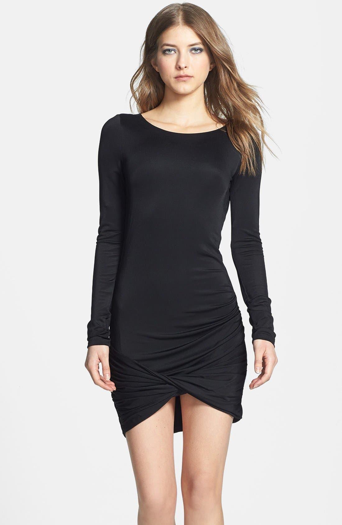 Main Image - BCBGMAXAZRIA Draped Jersey Dress