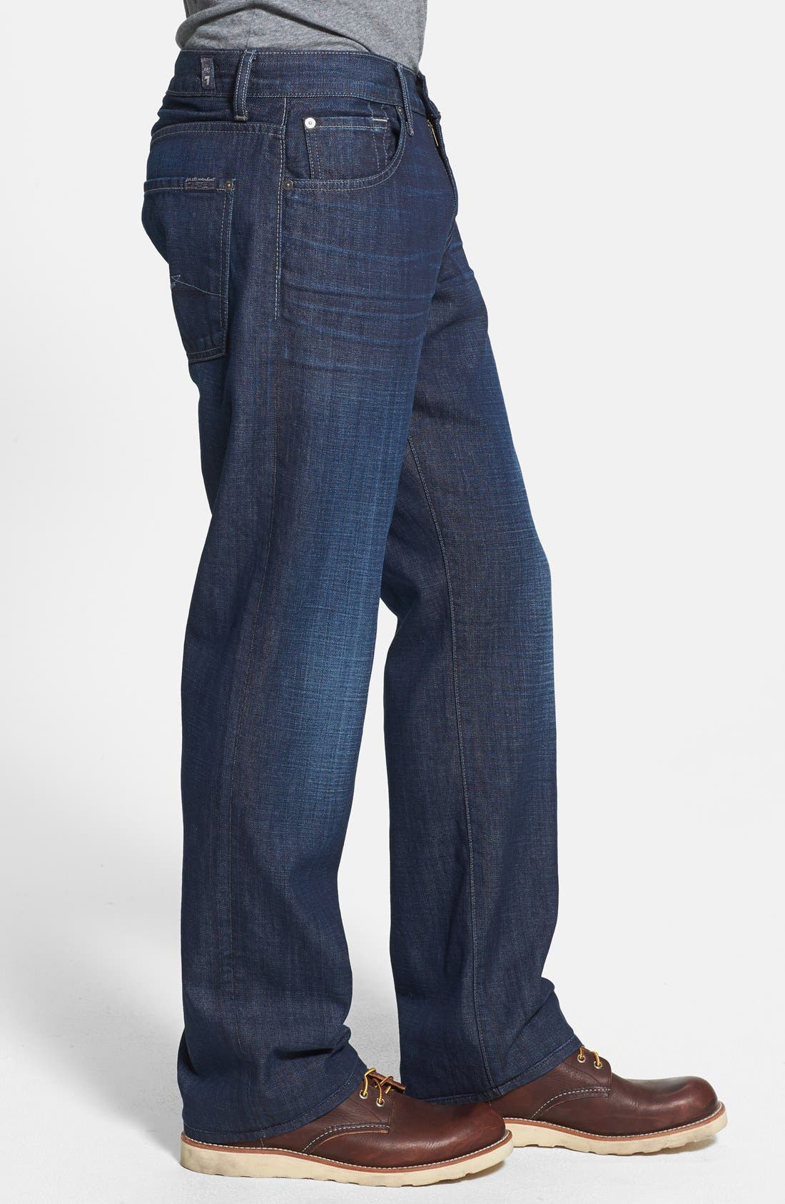 Alternate Image 3  - 7 For All Mankind® 'Austyn' Relaxed Straight Leg Jeans (Sunlit Waters)