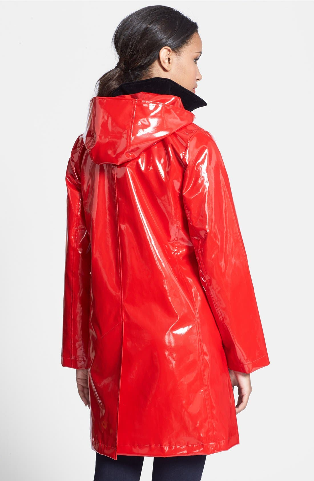 Alternate Image 2  - Jane Post 'Princess' Rain Slicker with Detachable Hood