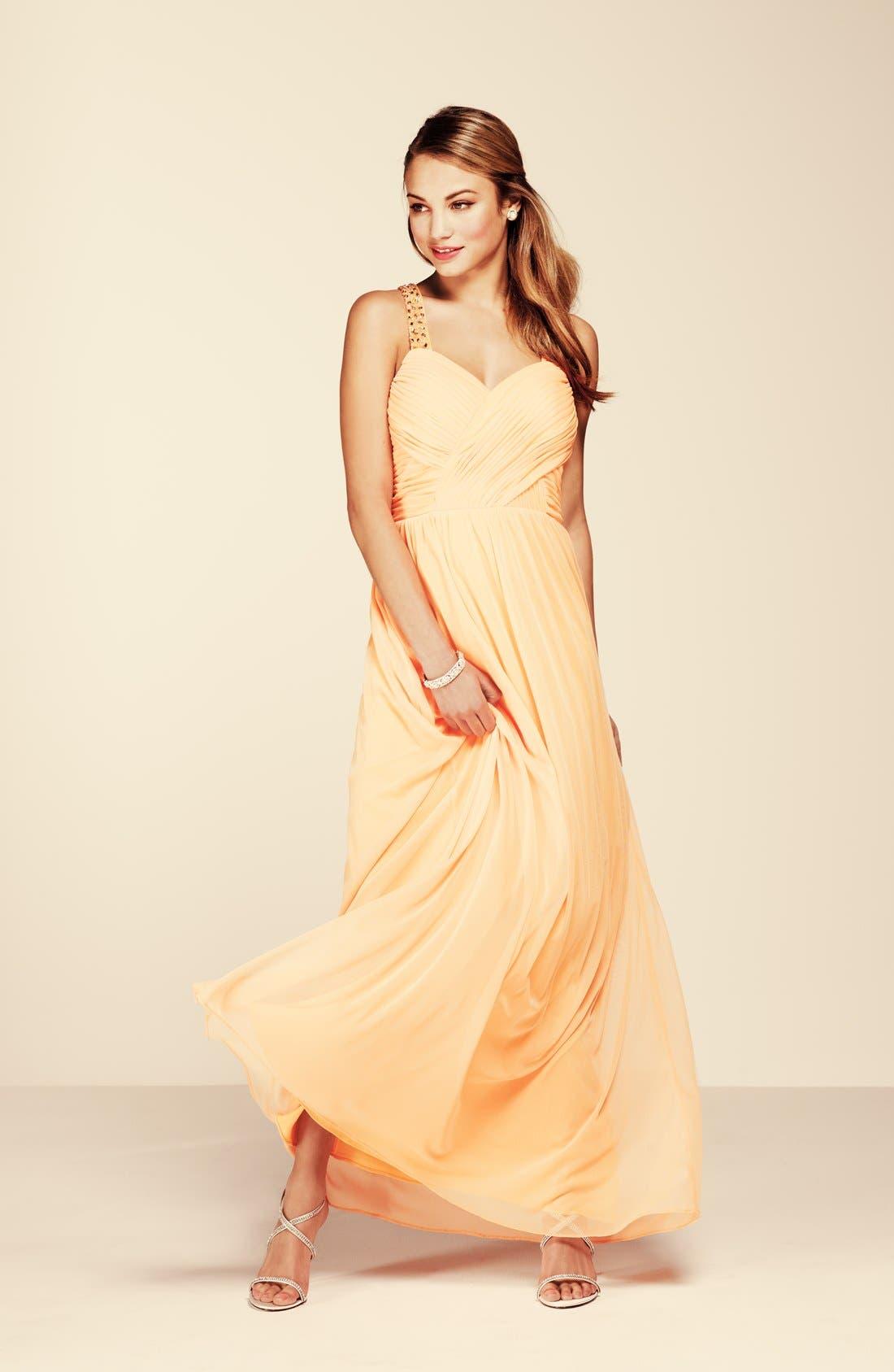 Alternate Image 3  - Hailey Logan 'Tina' Cutout Embellished Gown (Juniors)