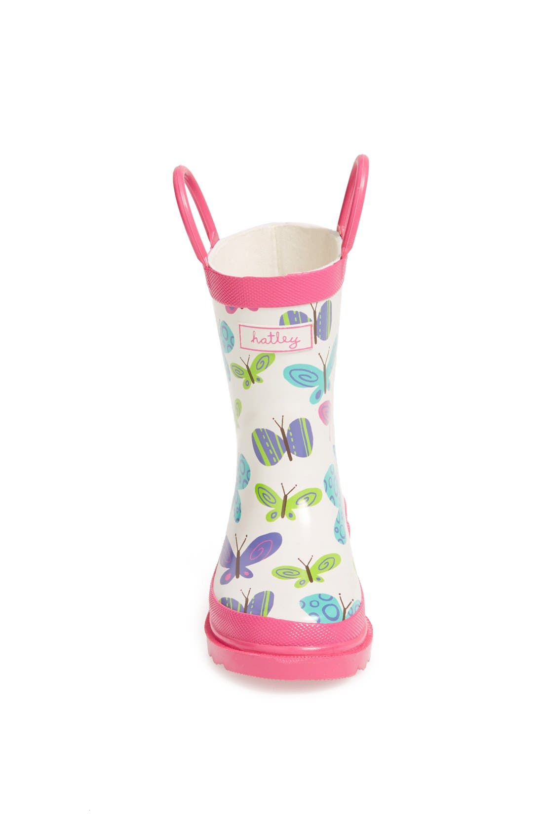 Alternate Image 3  - Hatley 'Ditsy Butterflies' Rain Boot (Walker & Toddler)