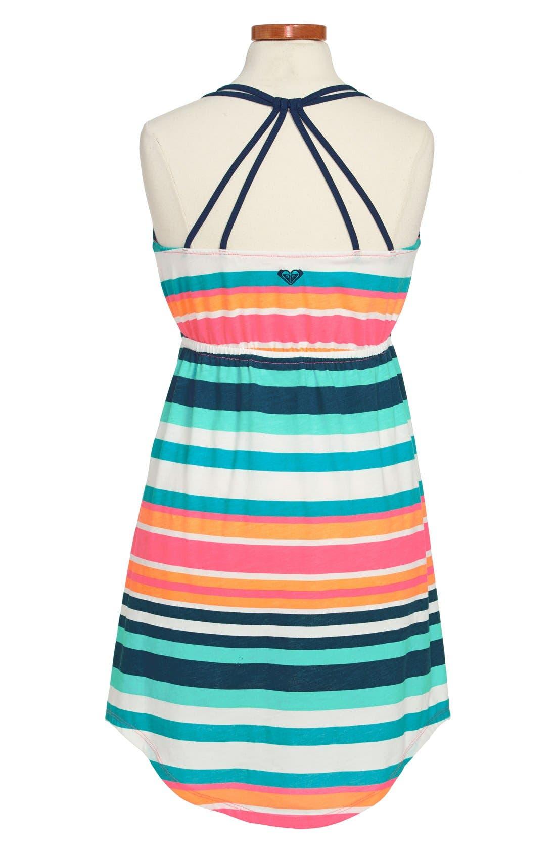 Alternate Image 2  - Roxy 'Just Begun' Stripe Dress (Big Girls)