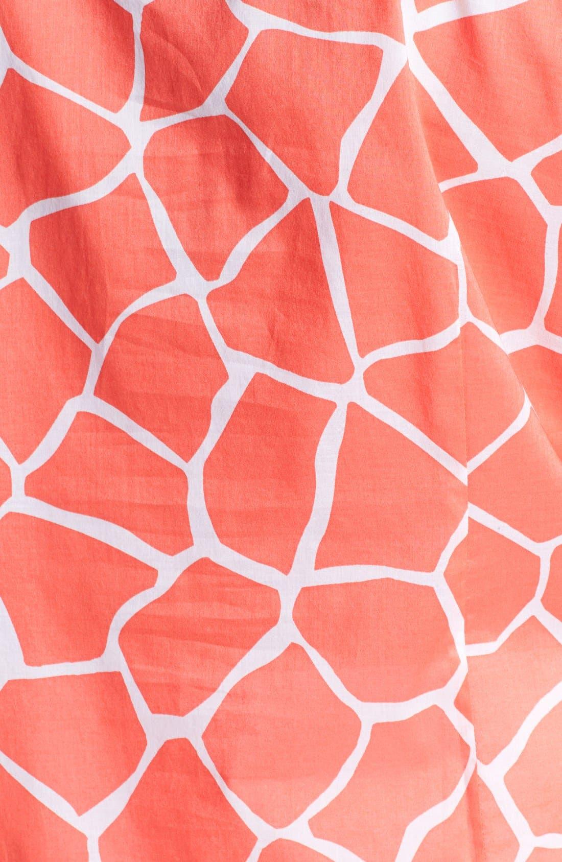 Alternate Image 3  - Foxcroft Fitted Giraffe Print Cotton Roll Sleeve Shirt (Plus Size)