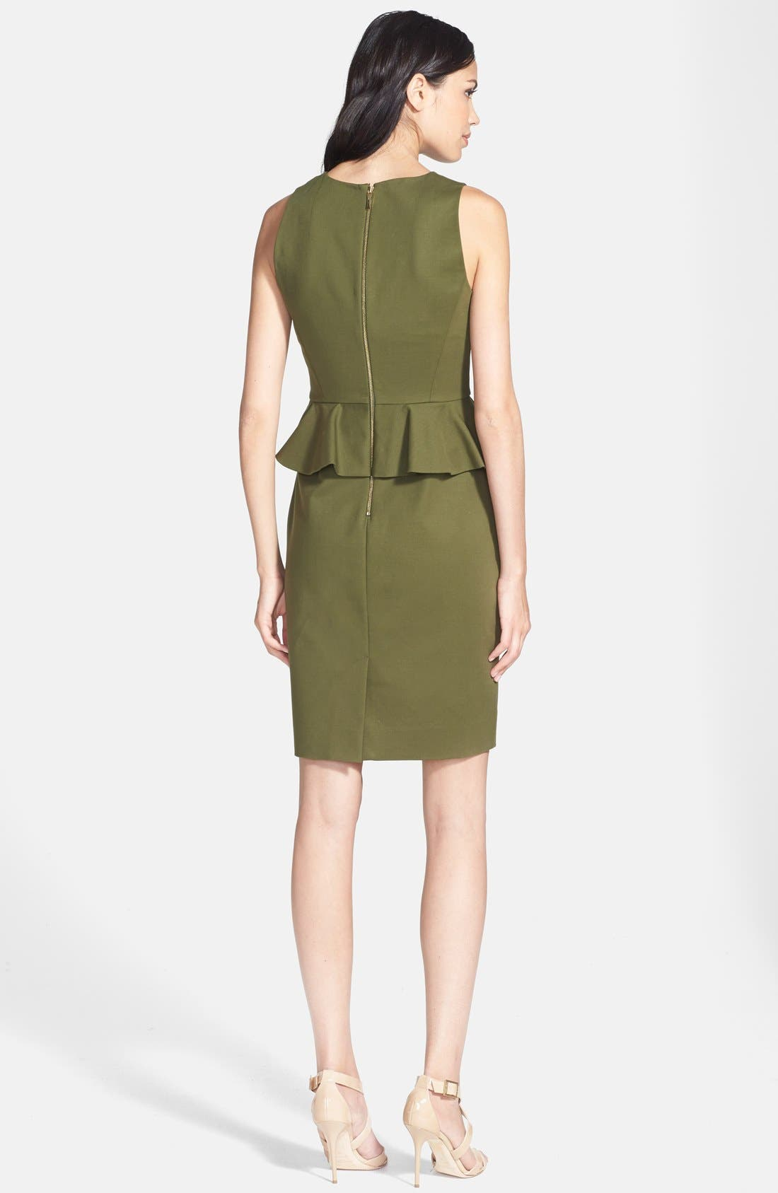 Alternate Image 2  - kate spade new york peplum stretch cotton sheath dress