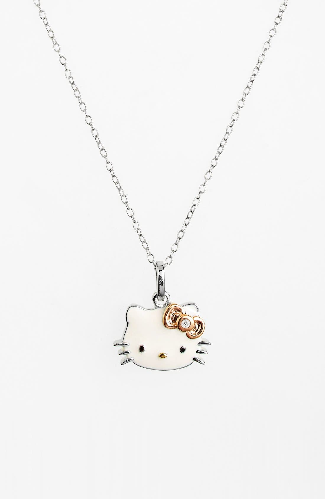 Alternate Image 1 Selected - Hello Kitty® Diamond Pendant Necklace (Nordstrom Exclusive)