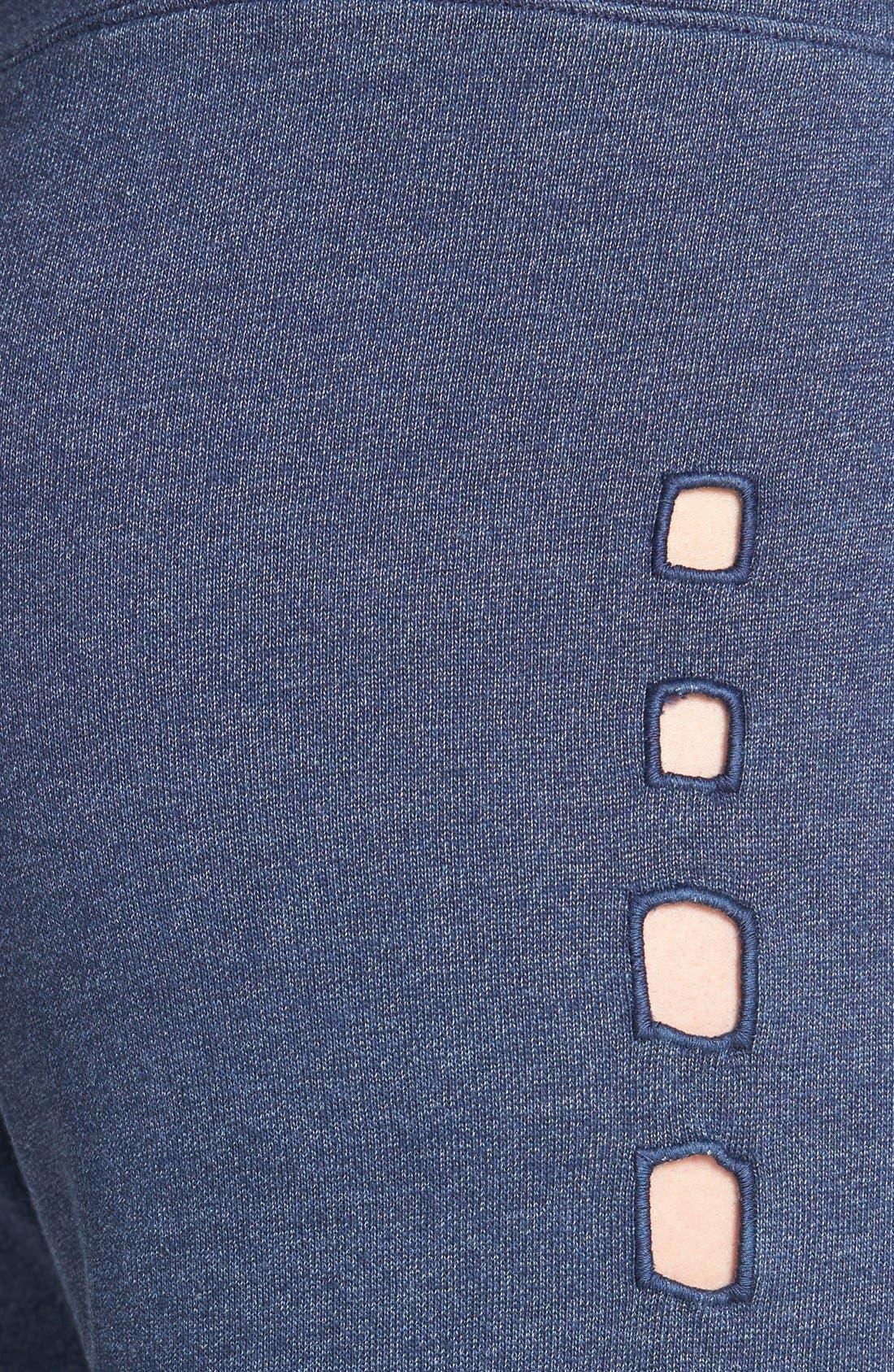 Alternate Image 3  - Monrow Cutout Side Vintage Fleece Sweatpants