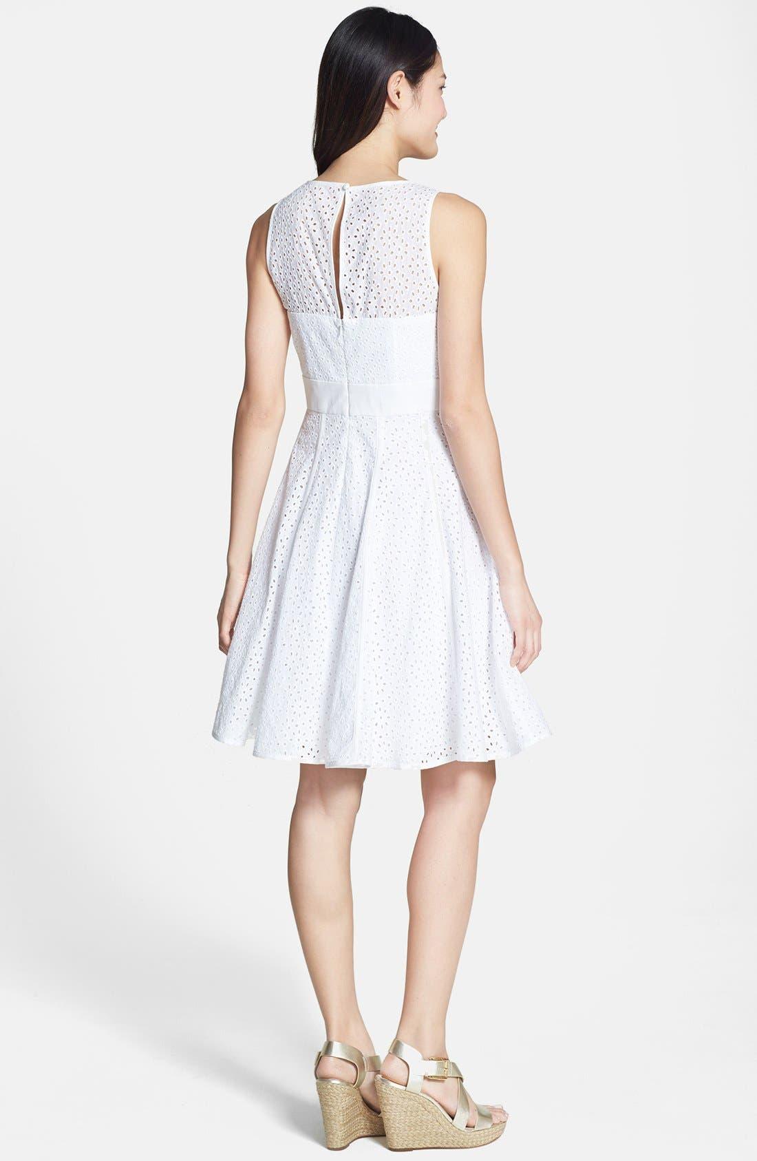 Alternate Image 3  - Eliza J Eyelet Fit & Flare Dress