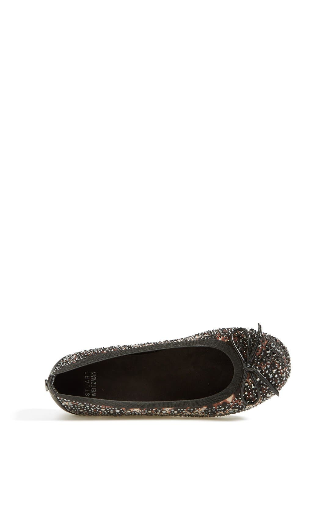 Alternate Image 3  - Stuart Weitzman 'Fannie Crystal' Flat (Online Only) (Little Kid & Big Kid)