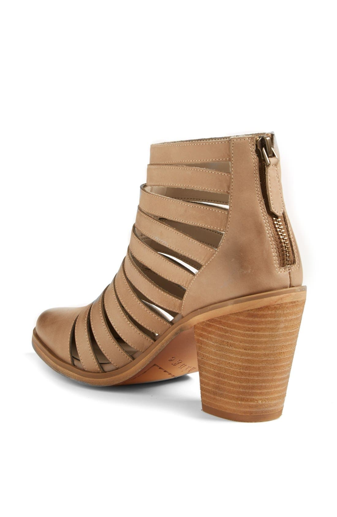 Alternate Image 2  - Hinge 'Dresden' Caged Leather Bootie (Women)