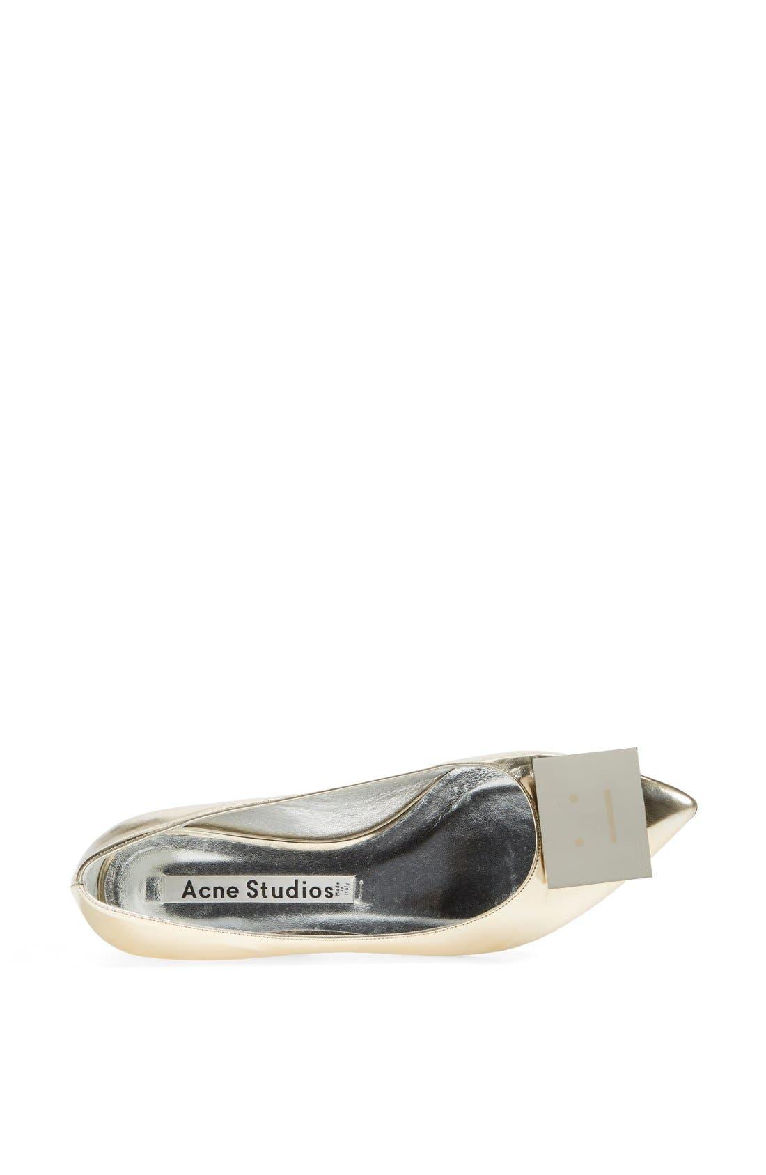 Alternate Image 3  - Acne Studios 'Aida' Pointy Toe Metallic Leather Flat