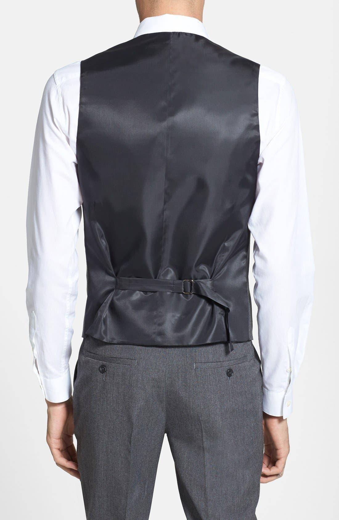 Alternate Image 2  - Topman Skinny Fit Grey Vest