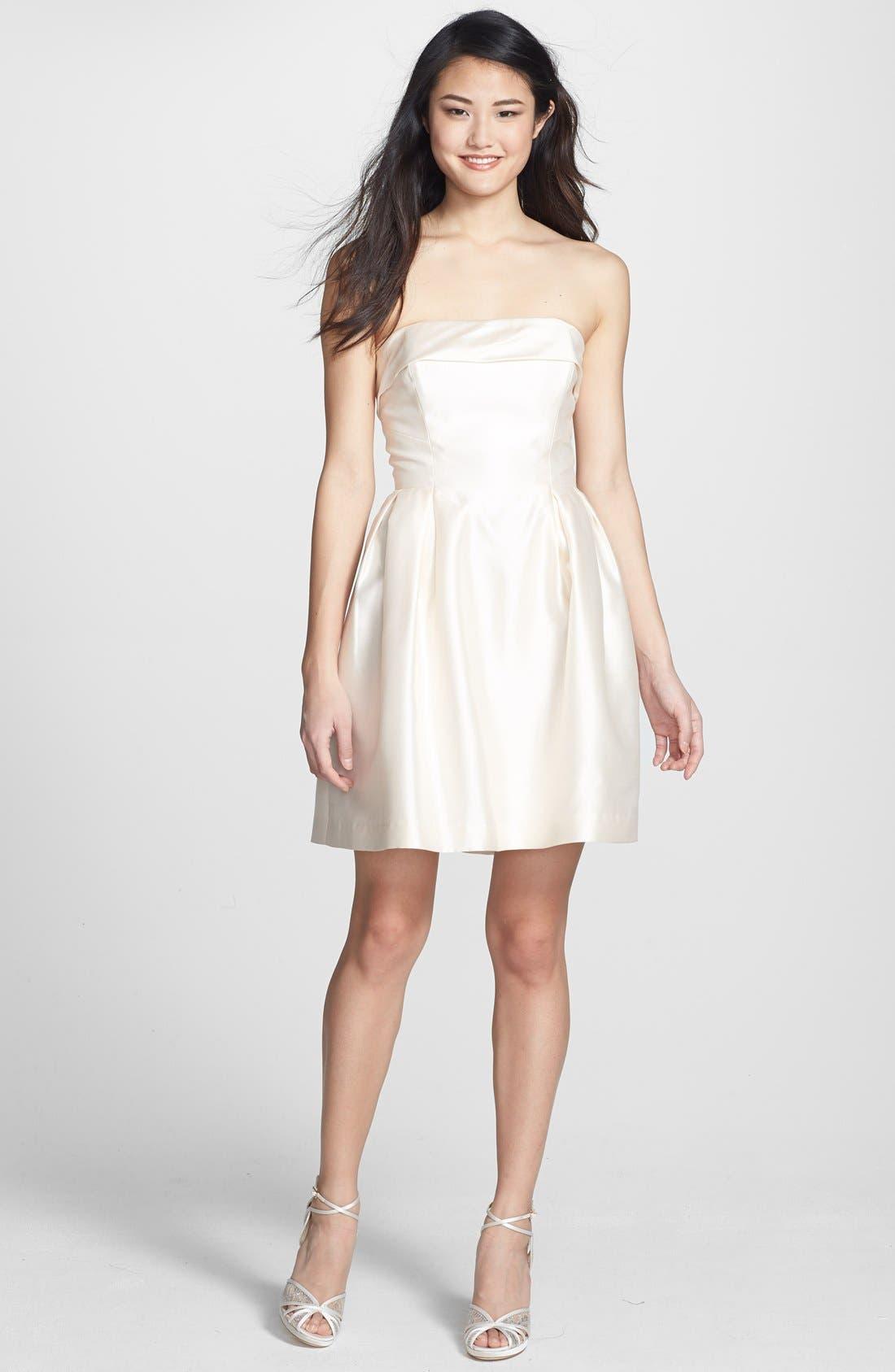 Alternate Image 3  - Shoshanna 'Shaina' Silk Satin Fit & Flare Dress