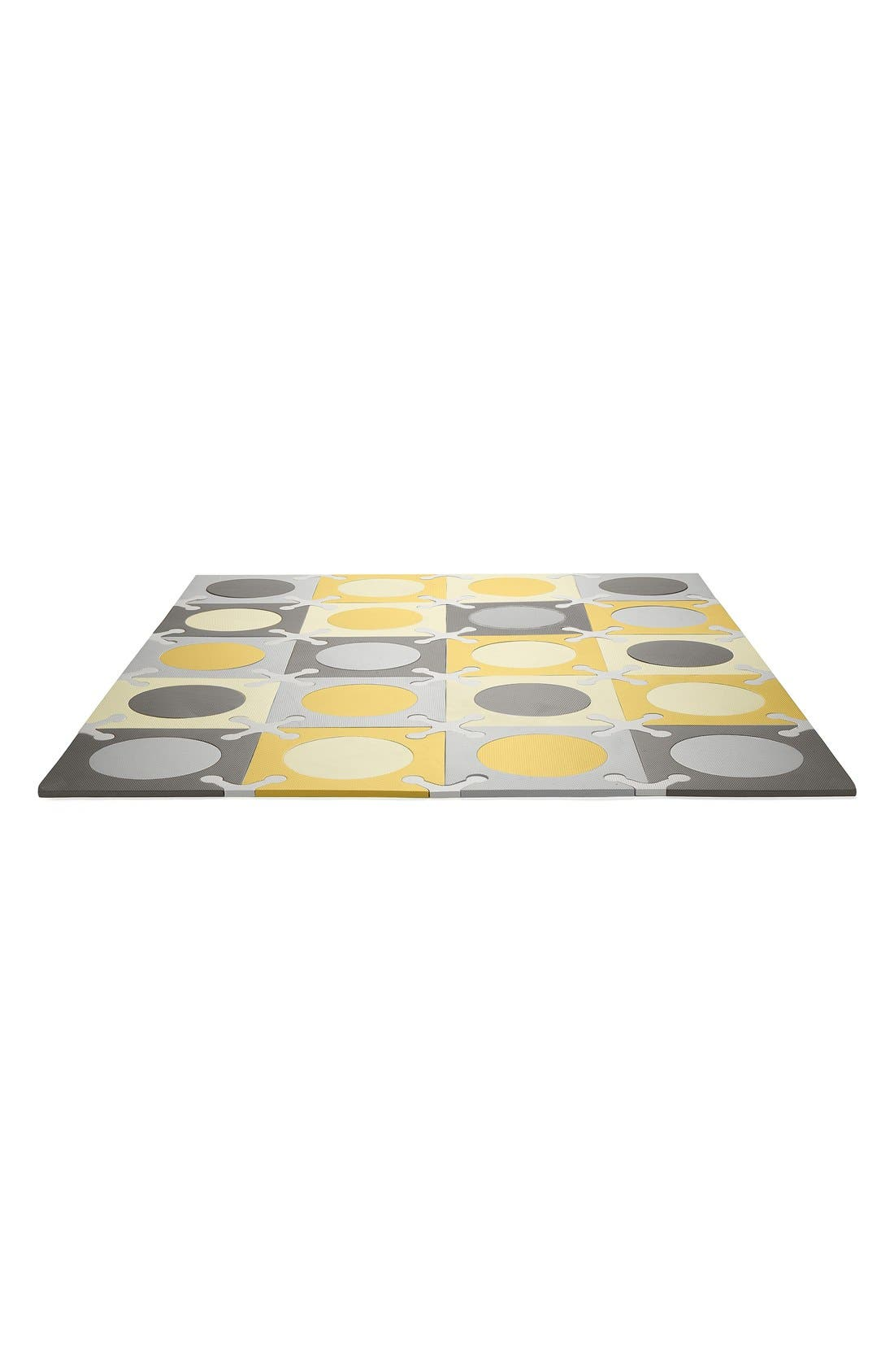 'Playspot' Floor Tiles,                             Main thumbnail 1, color,                             Gray/ Gold