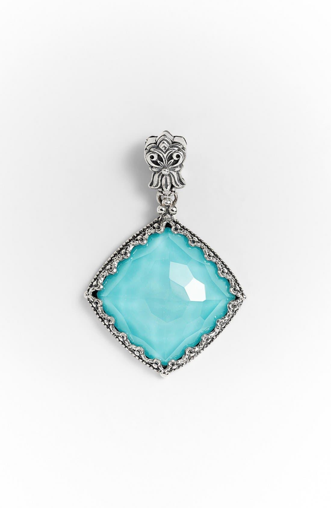 'Aegean' Pendant,                             Main thumbnail 1, color,                             Silver/ Turquoise