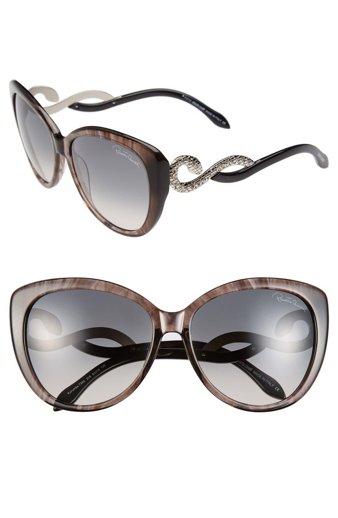 Main Image - Roberto Cavalli 'Kurumba' 60mm Oversized Sunglasses