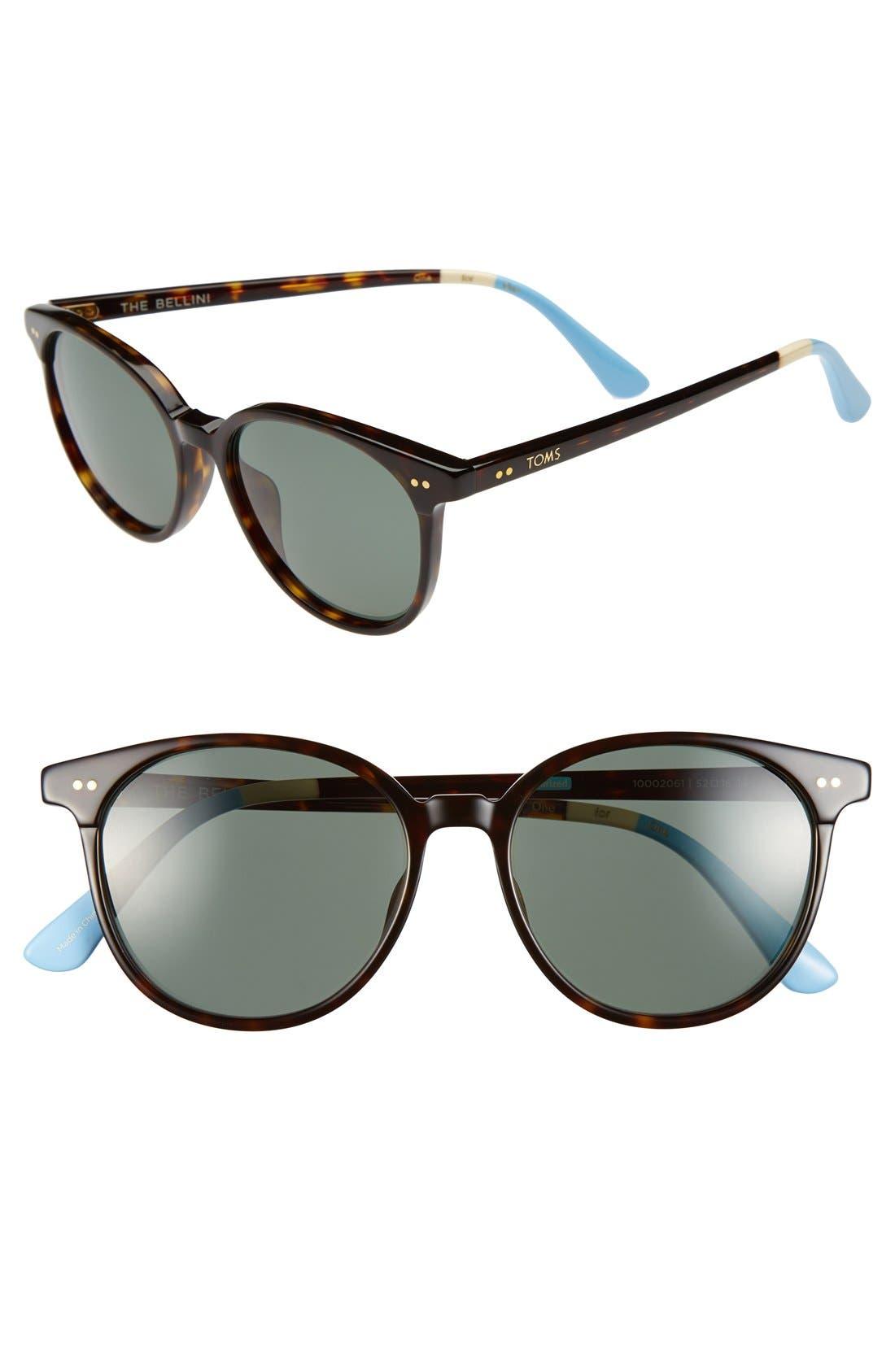 Alternate Image 1 Selected - TOMS 'Bellini' 52mm Polarized Sunglasses