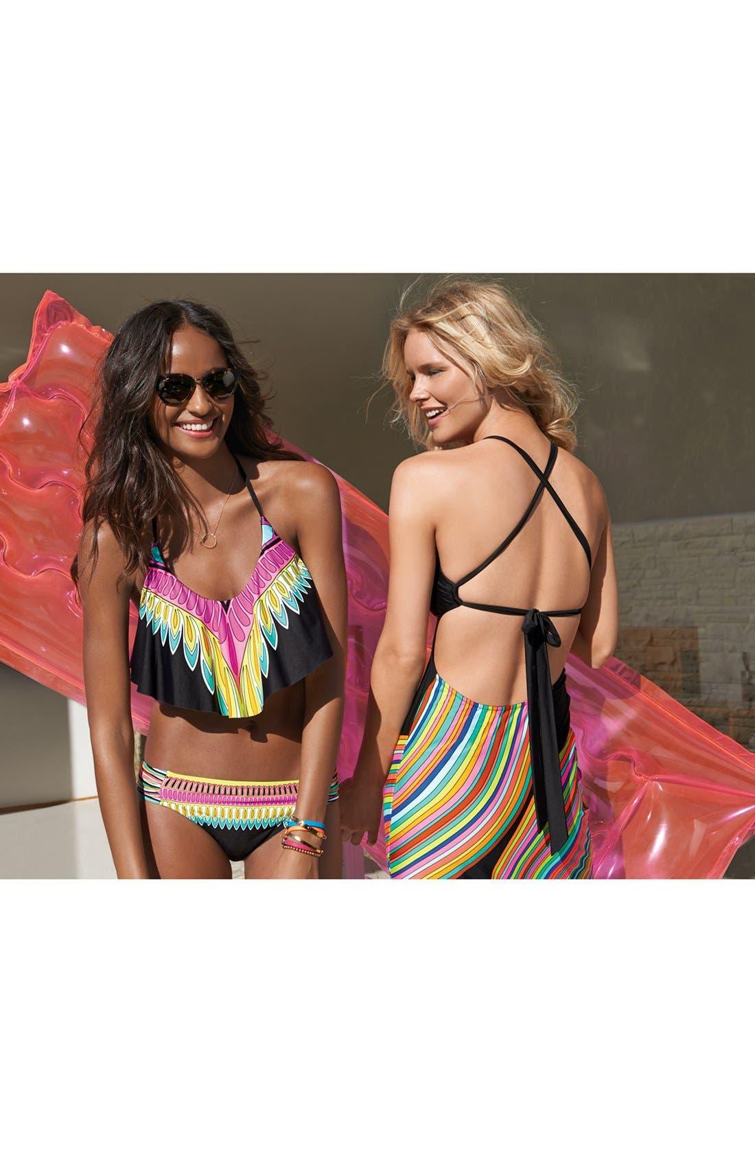 Alternate Image 6  - Trina Turk 'Plumas' Ruffle Bikini Top