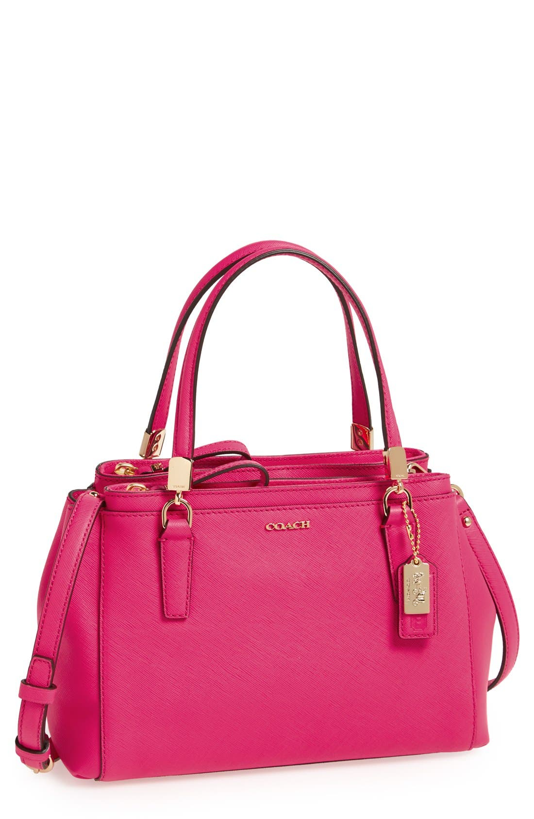 Main Image - COACH 'Madison - Mini Christie' Saffiano Leather Satchel