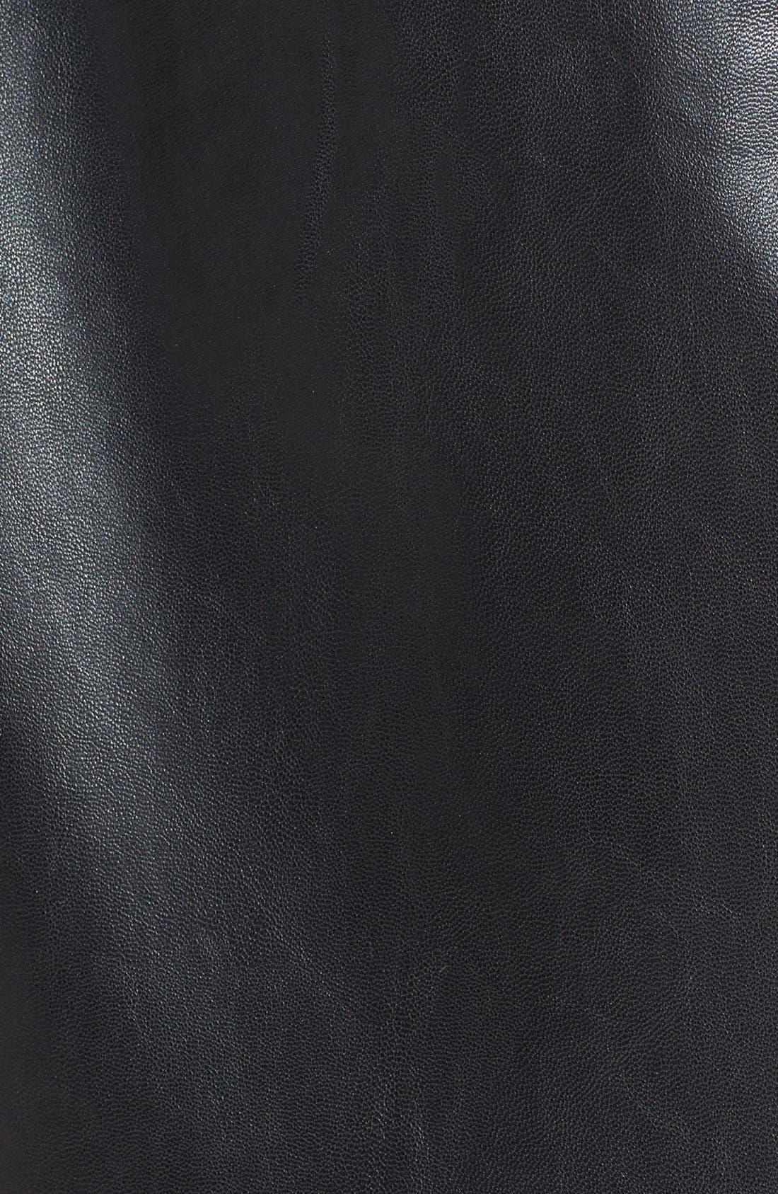Alternate Image 4  - ASTR Chiffon Panel Faux Leather Tank