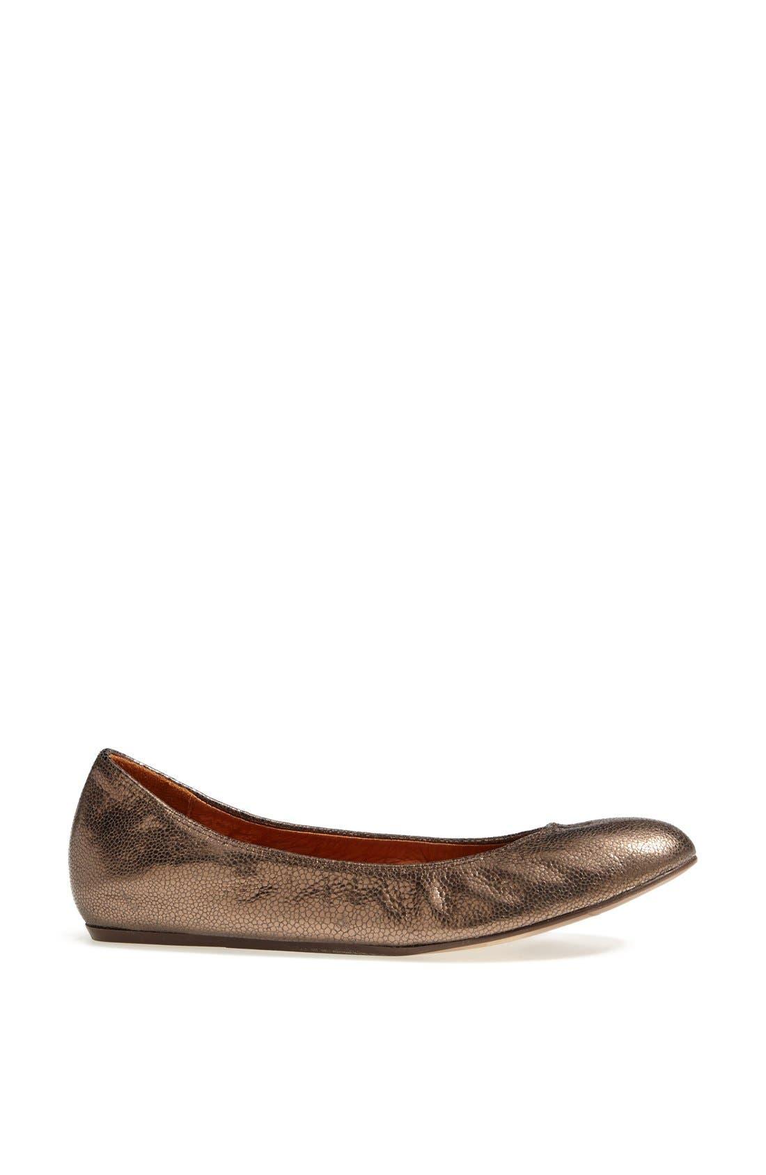 Alternate Image 4  - Lanvin Metallic Leather Ballerina Flat (Women)