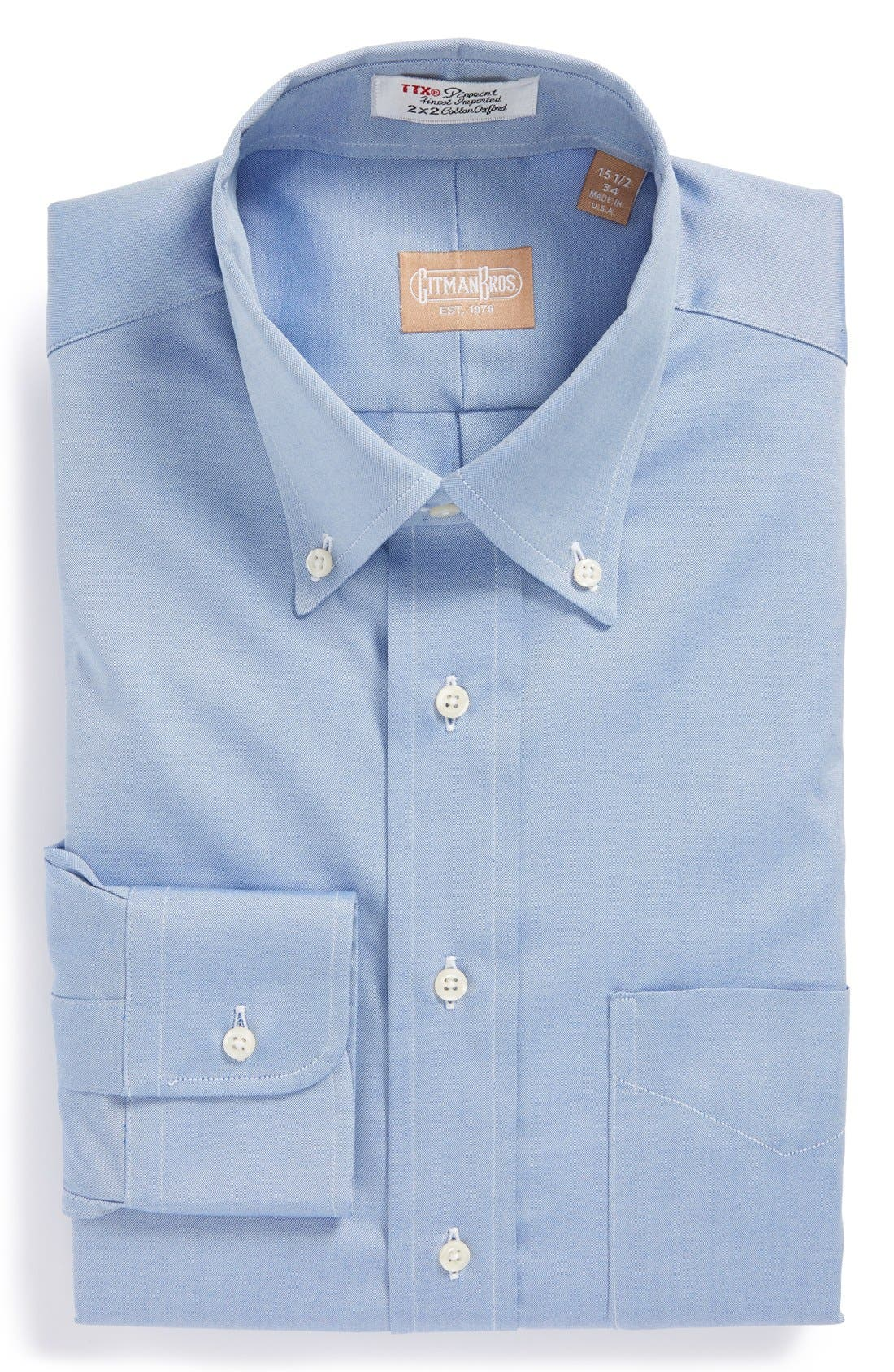 Gitman Regular Fit Pinpoint Cotton Oxford Button Down Dress Shirt