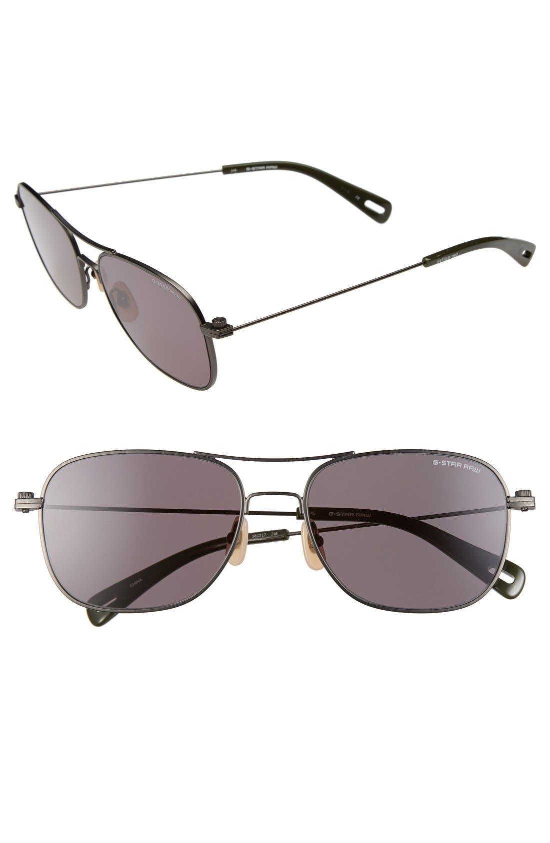 Main Image - G-Star Raw 'GS101SM' 56mm Sunglasses