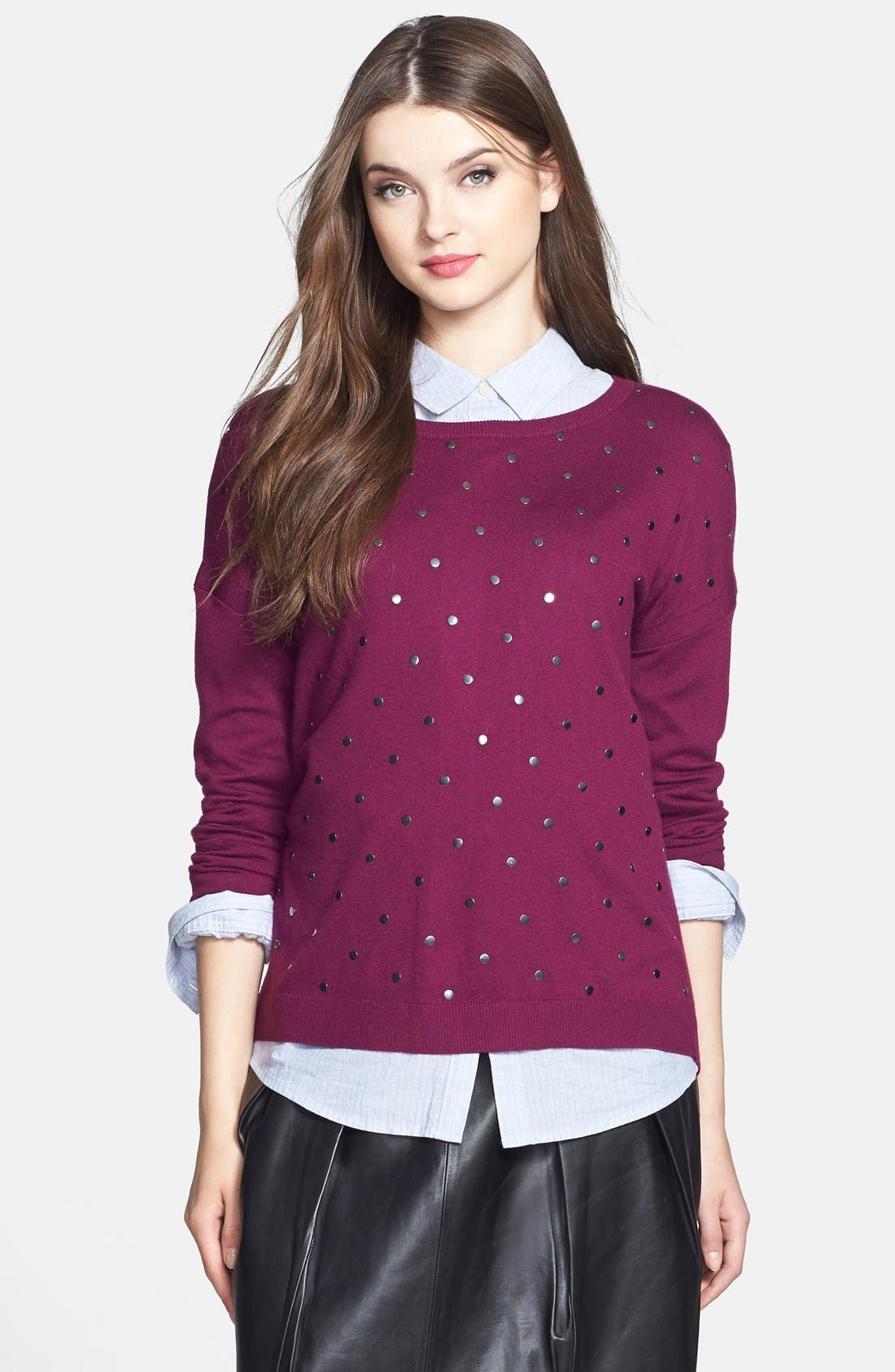 Alternate Image 1 Selected - Caslon® Studded Sweater