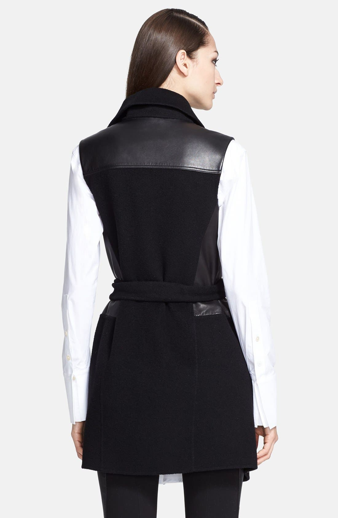 Alternate Image 2  - Donna Karan Collection Belted Leather & Cashmere Vest