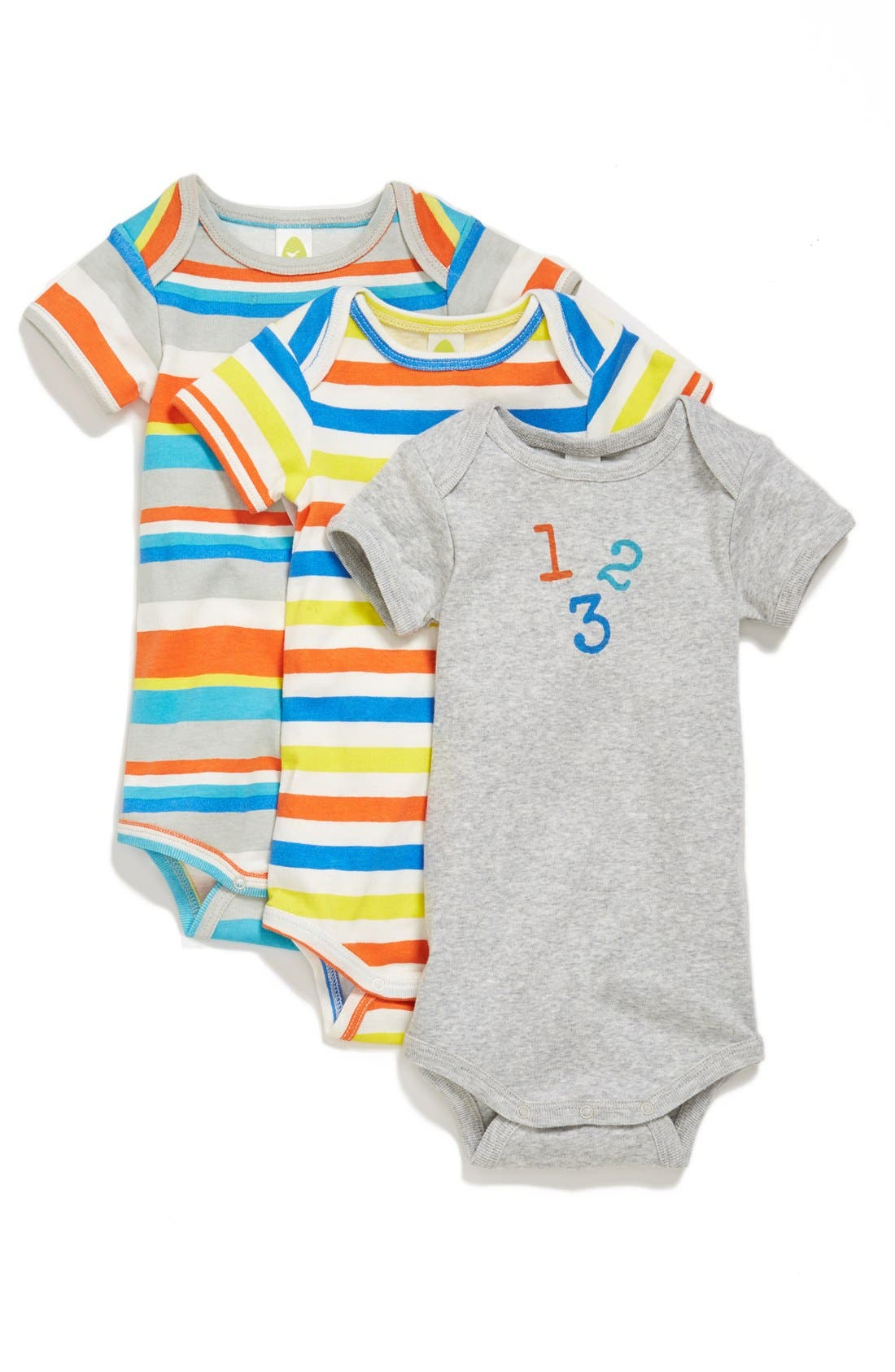 Alternate Image 1 Selected - Stem Baby Organic Cotton Bodysuit (3-Pack) (Baby Boys) (Nordstrom Exclusive)