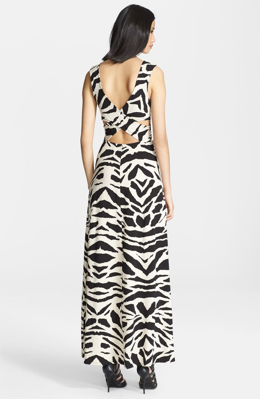 Alternate Image 2  - Tracy Reese Graphic Print Cross Back Maxi Dress