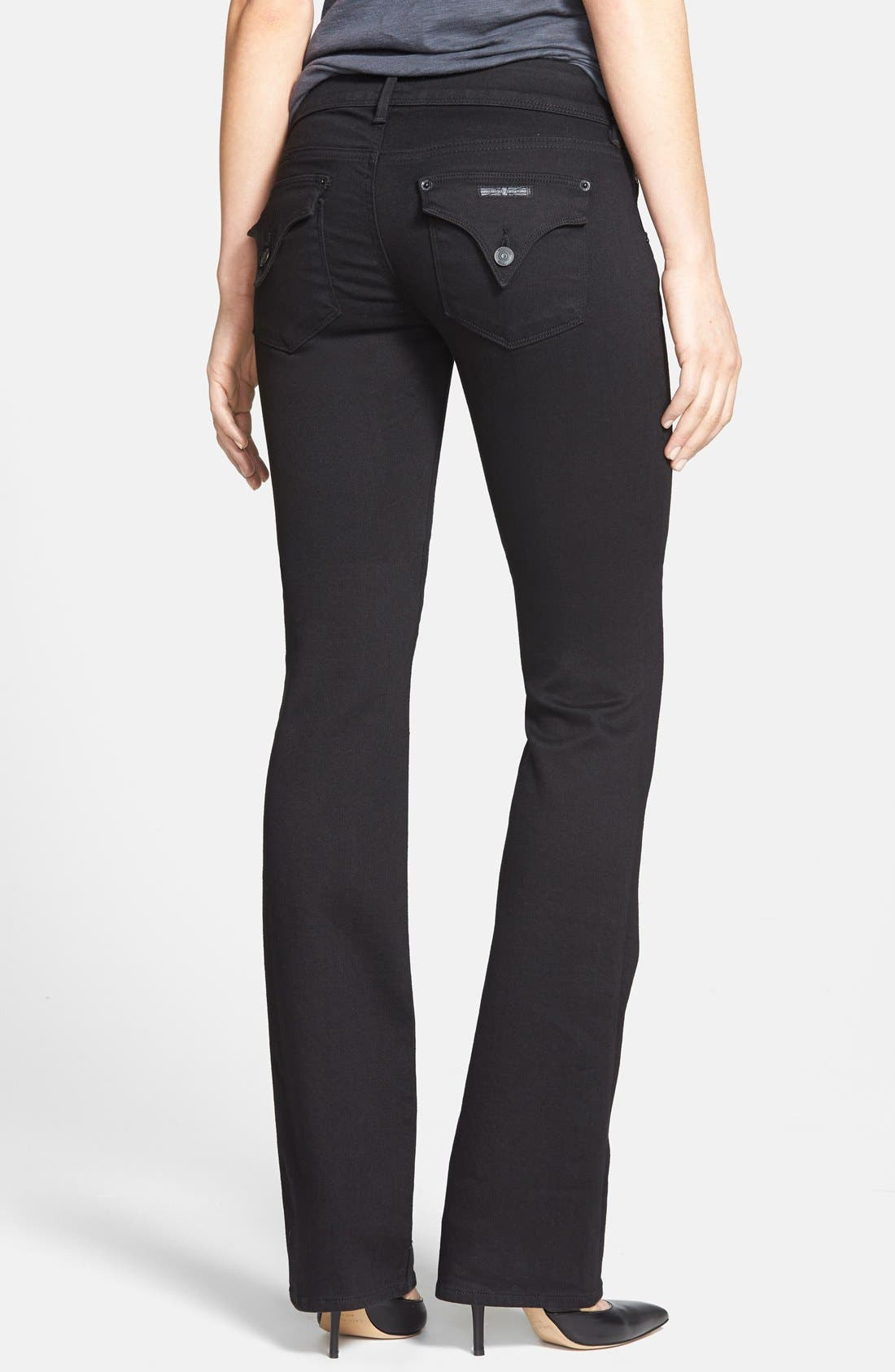 Alternate Image 2  - Hudson Jeans 'Beth' Baby Bootcut Jeans (Black) (Online Only)