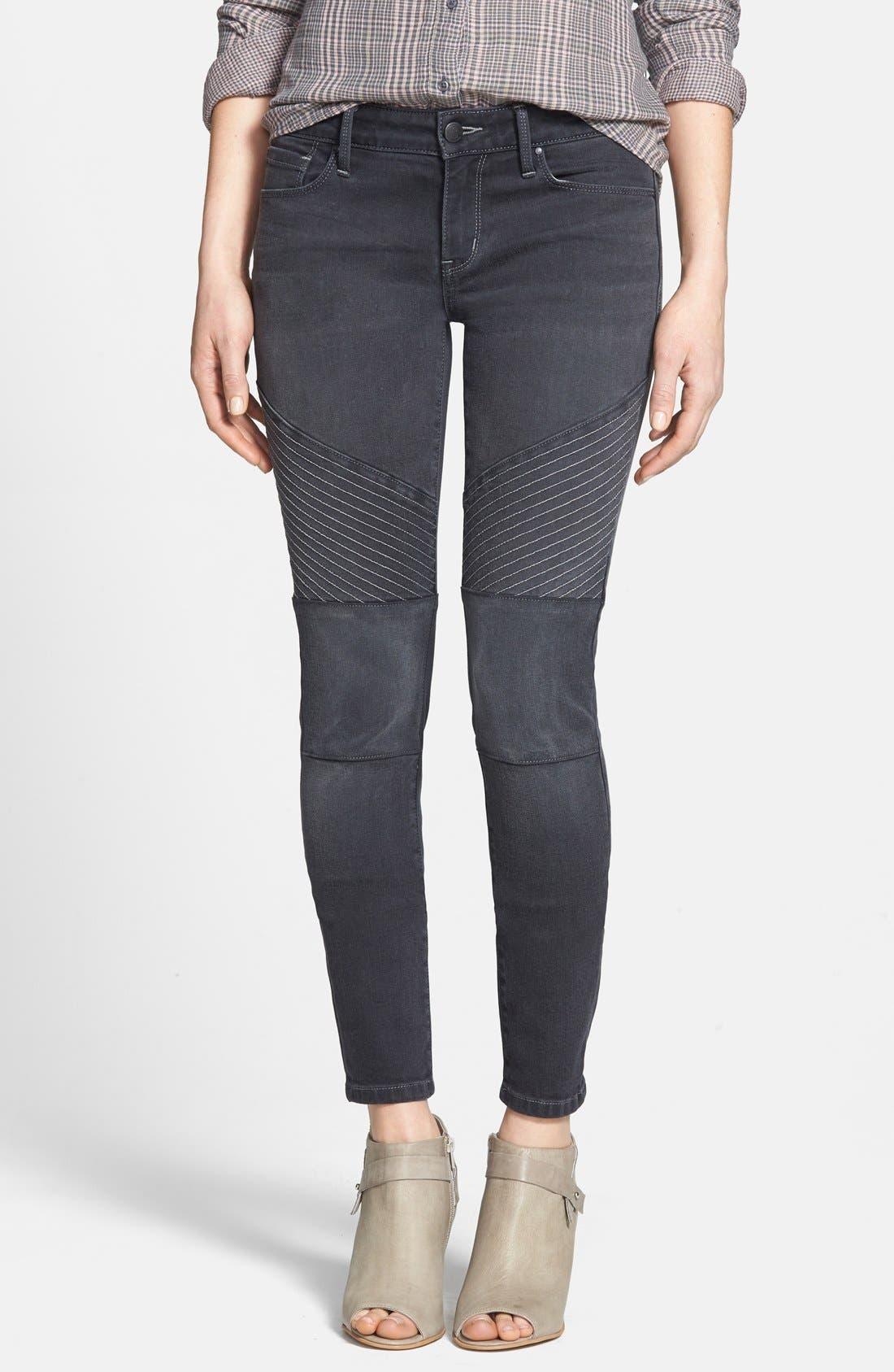 Alternate Image 1 Selected - Treasure&Bond Moto Jeans (Washed Black)