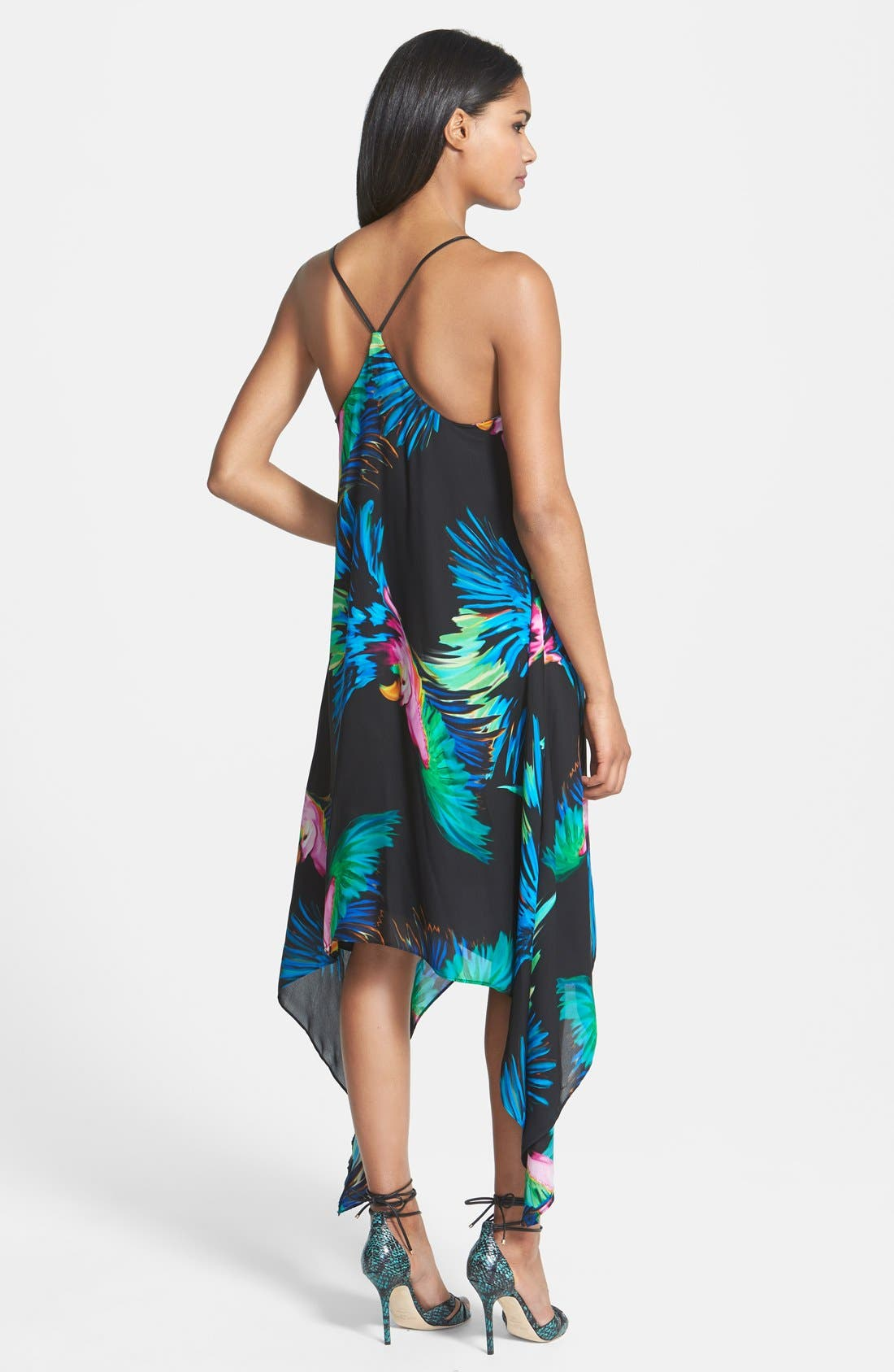 Alternate Image 2  - Milly Strappy Paradise Print Silk Dress