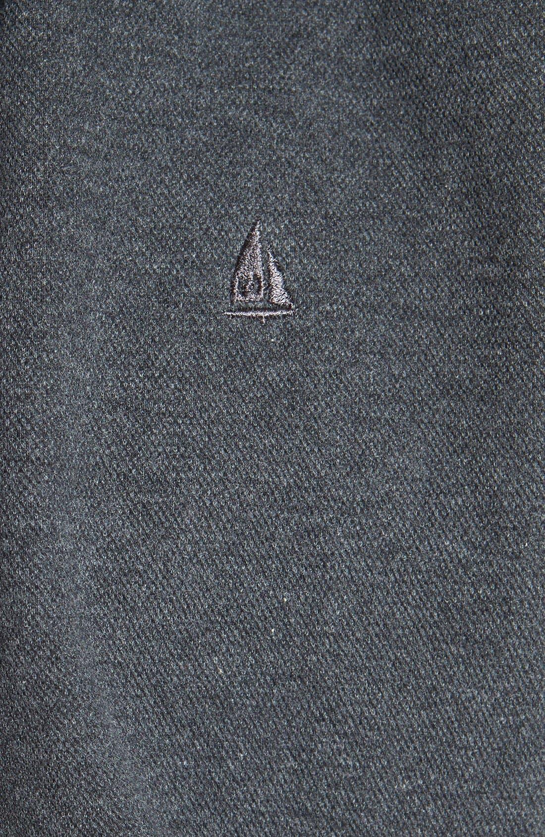 Alternate Image 3  - Nordstrom Full Zip Piqué Knit Hoodie