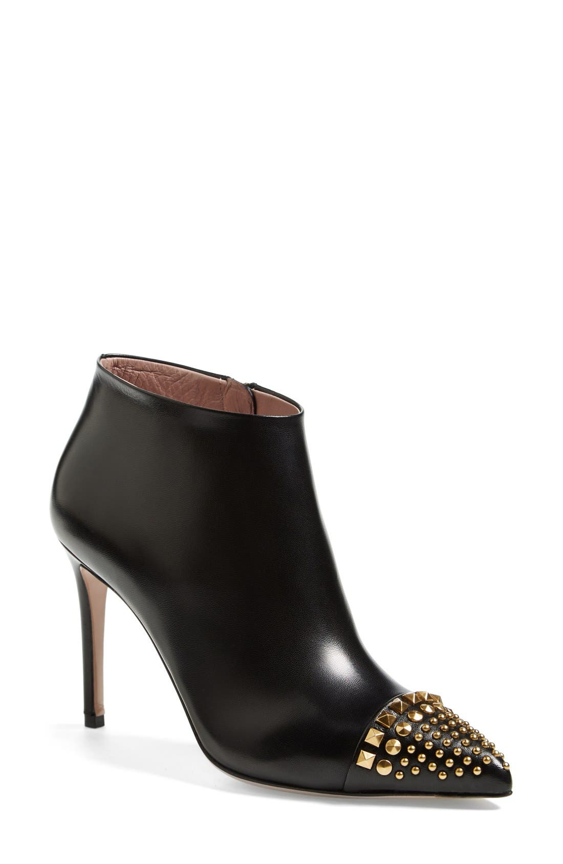 Alternate Image 1 Selected - Gucci 'Coline' Studded Cap Toe Bootie (Women)