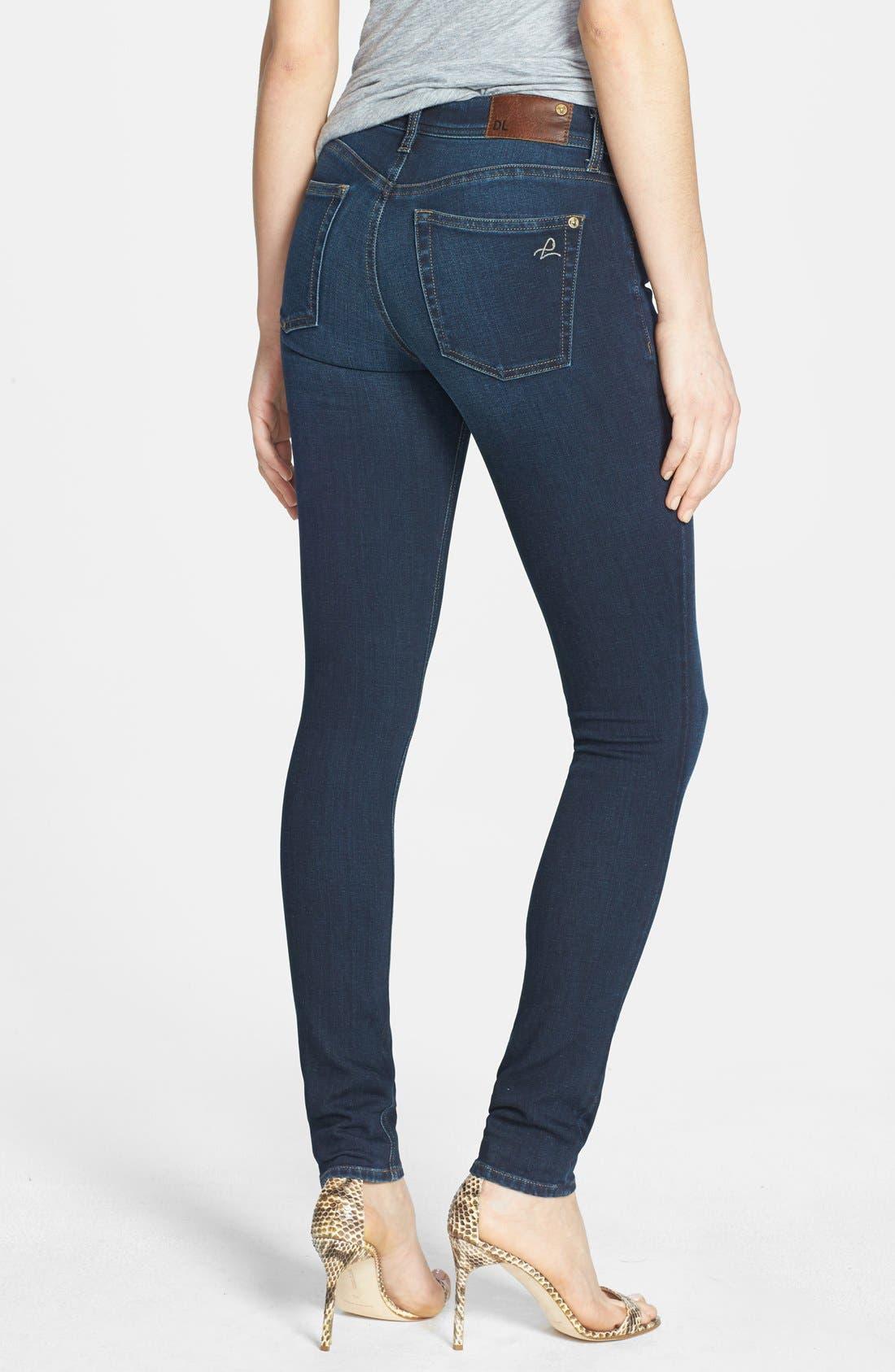 Alternate Image 2  - DL1961 'Florence' Instasculpt Skinny Jeans (Warner)