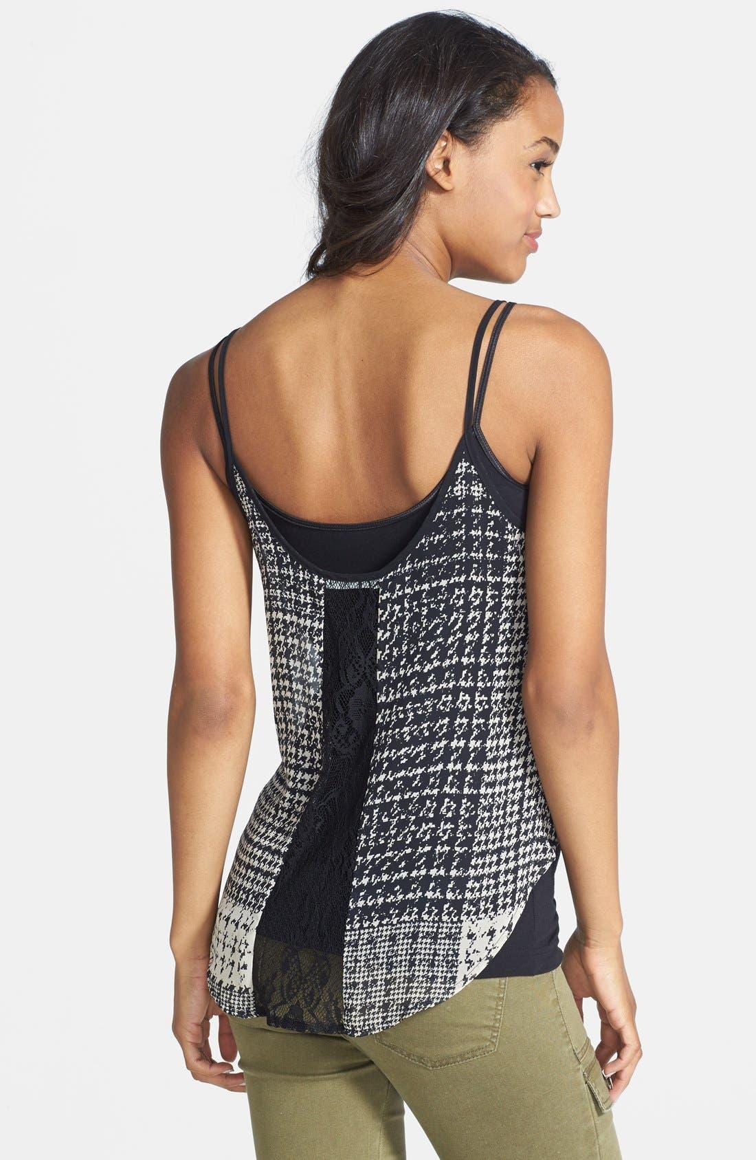 Alternate Image 2  - Lace Inset Camisole