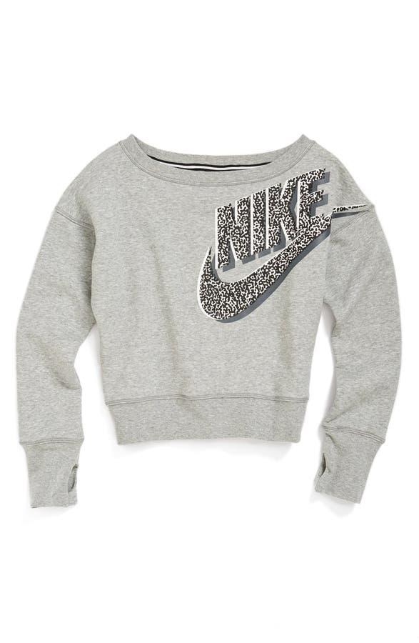 Nike Crop Sweatshirt (Big Girls) (Online Only) | Nordstrom