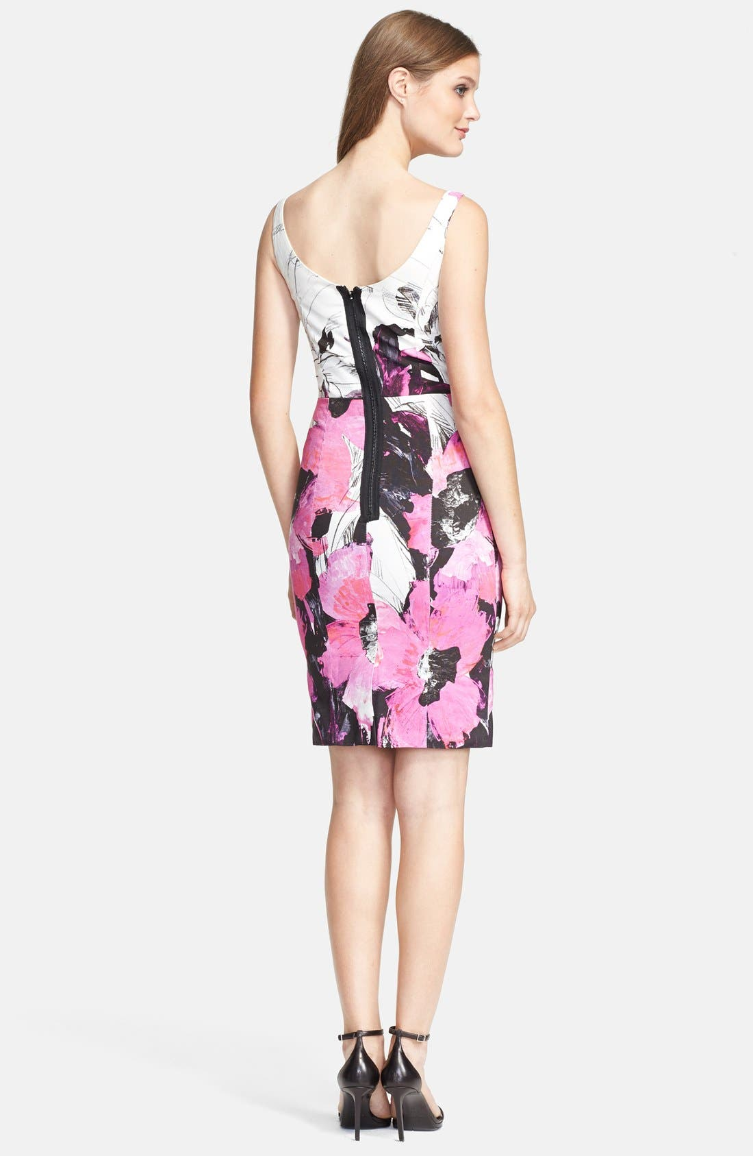 Alternate Image 2  - Milly 'Winter Orchid Sophia' Print Faille Sheath Dress