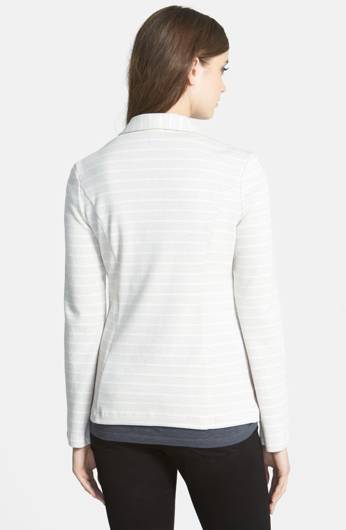 Alternate Image 2  - Caslon® Roll Sleeve Knit Blazer (Regular & Petite)