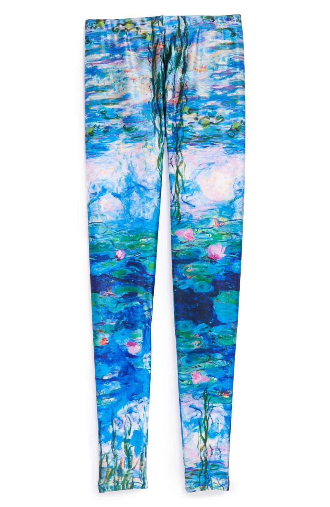 Alternate Image 1 Selected - Terez 'Water Lilies' Leggings (Big Girls)