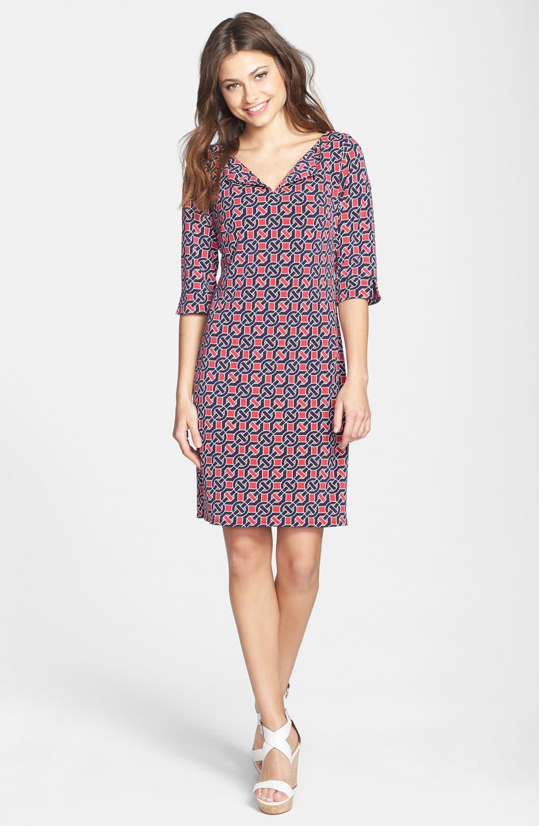Alternate Image 1 Selected - Laundry by Shelli Segal Print Jersey Shift Dress