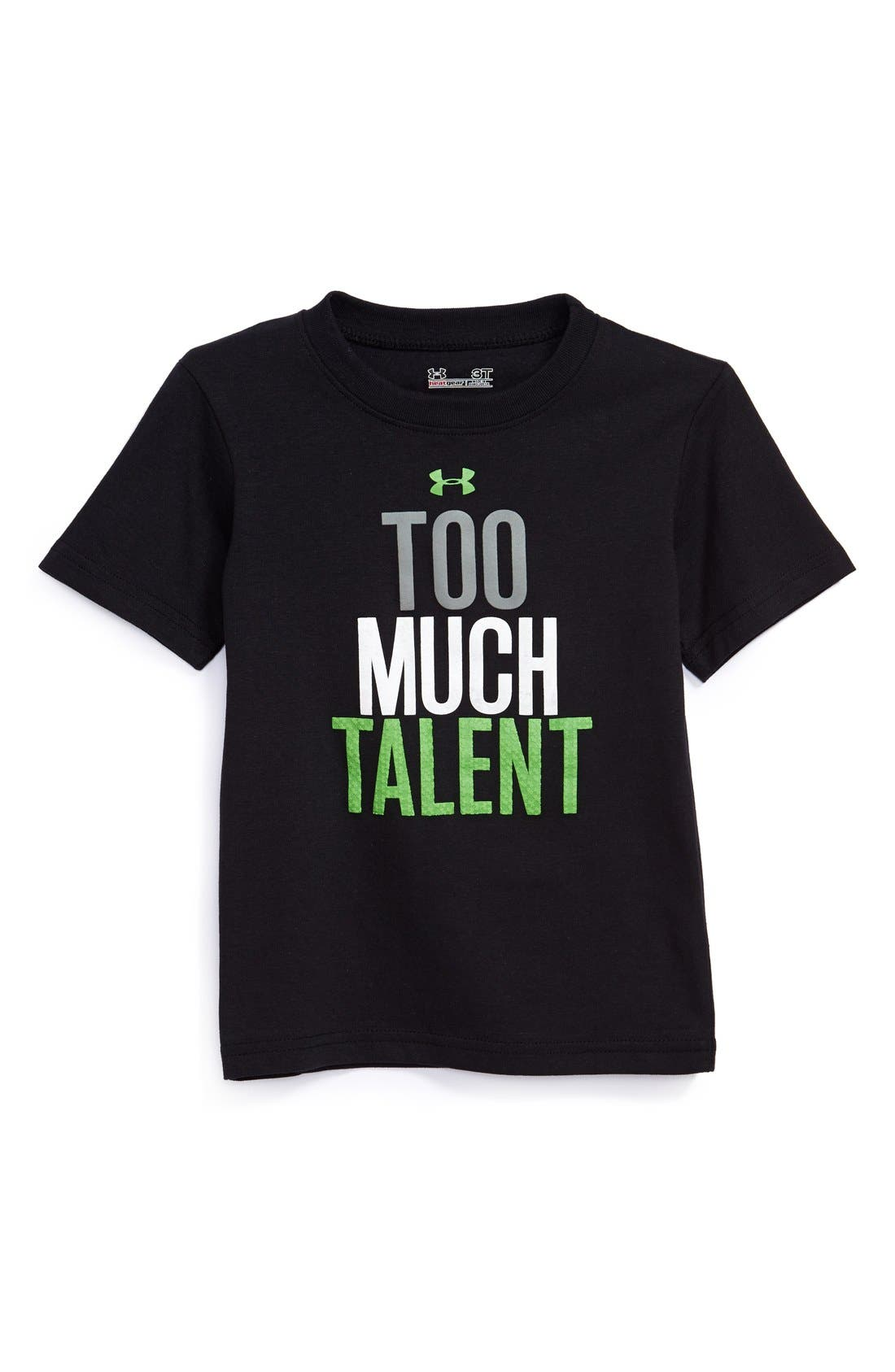 Main Image - Under Armour 'Too Much Talent' HeatGear® T-Shirt (Toddler Boys)