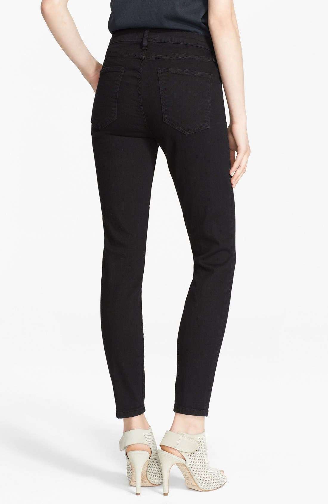 The Stiletto Skinny Jeans,                             Alternate thumbnail 2, color,                             Jet Black