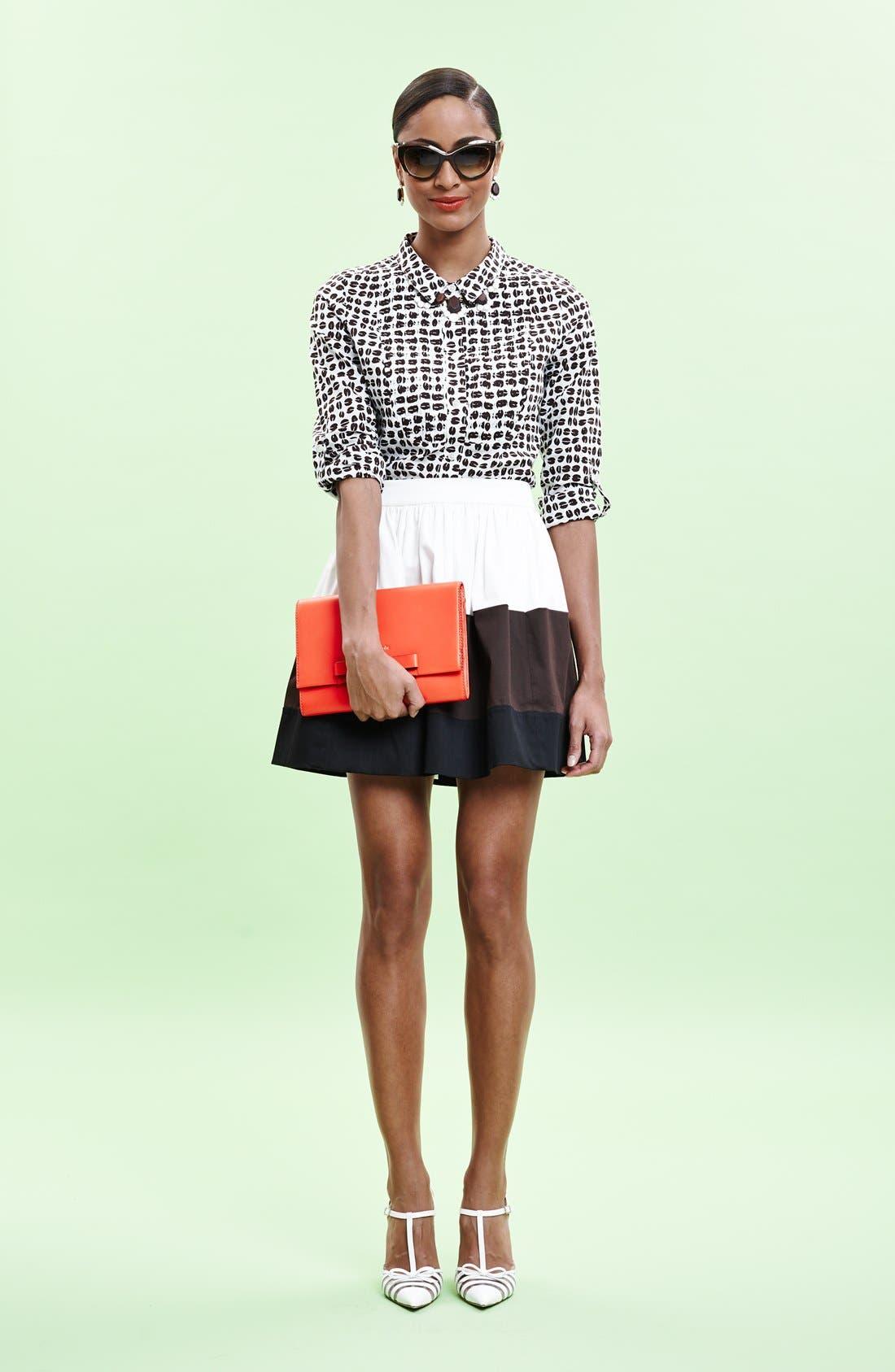 Alternate Image 5  - kate spade new york 'coreen' colorblock skirt