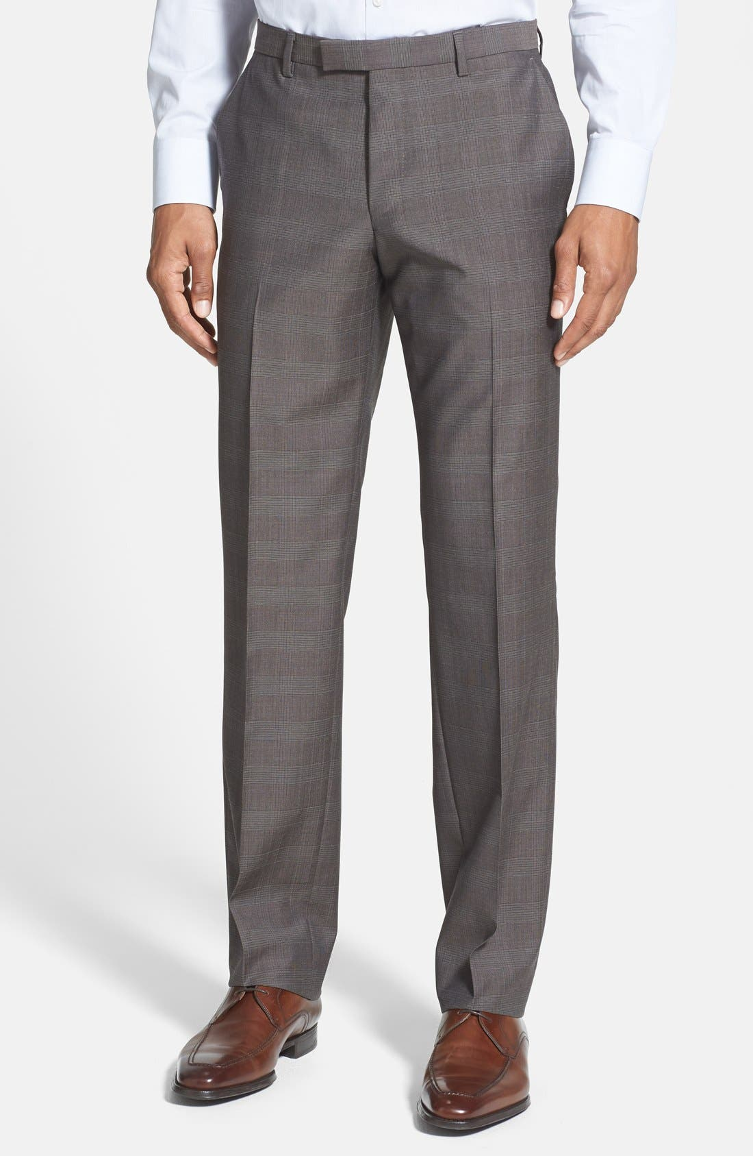 Alternate Image 4  - BOSS HUGO BOSS 'James/Sharp' Trim Fit Plaid Suit (Online Only)