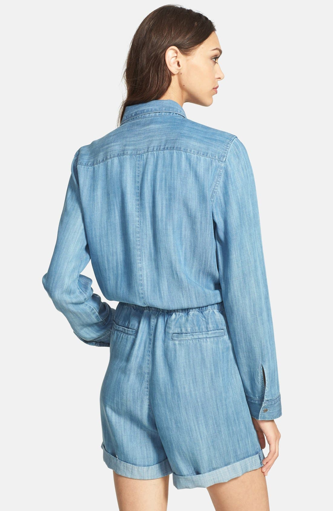 Alternate Image 2  - Hinge® Long Sleeve Chambray Romper
