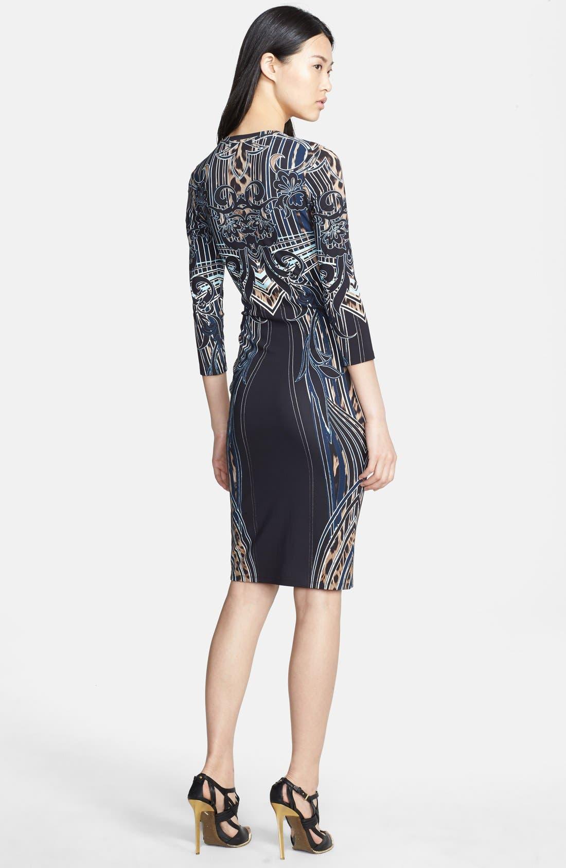 Alternate Image 2  - Roberto Cavalli Leopard Deco Print Dress