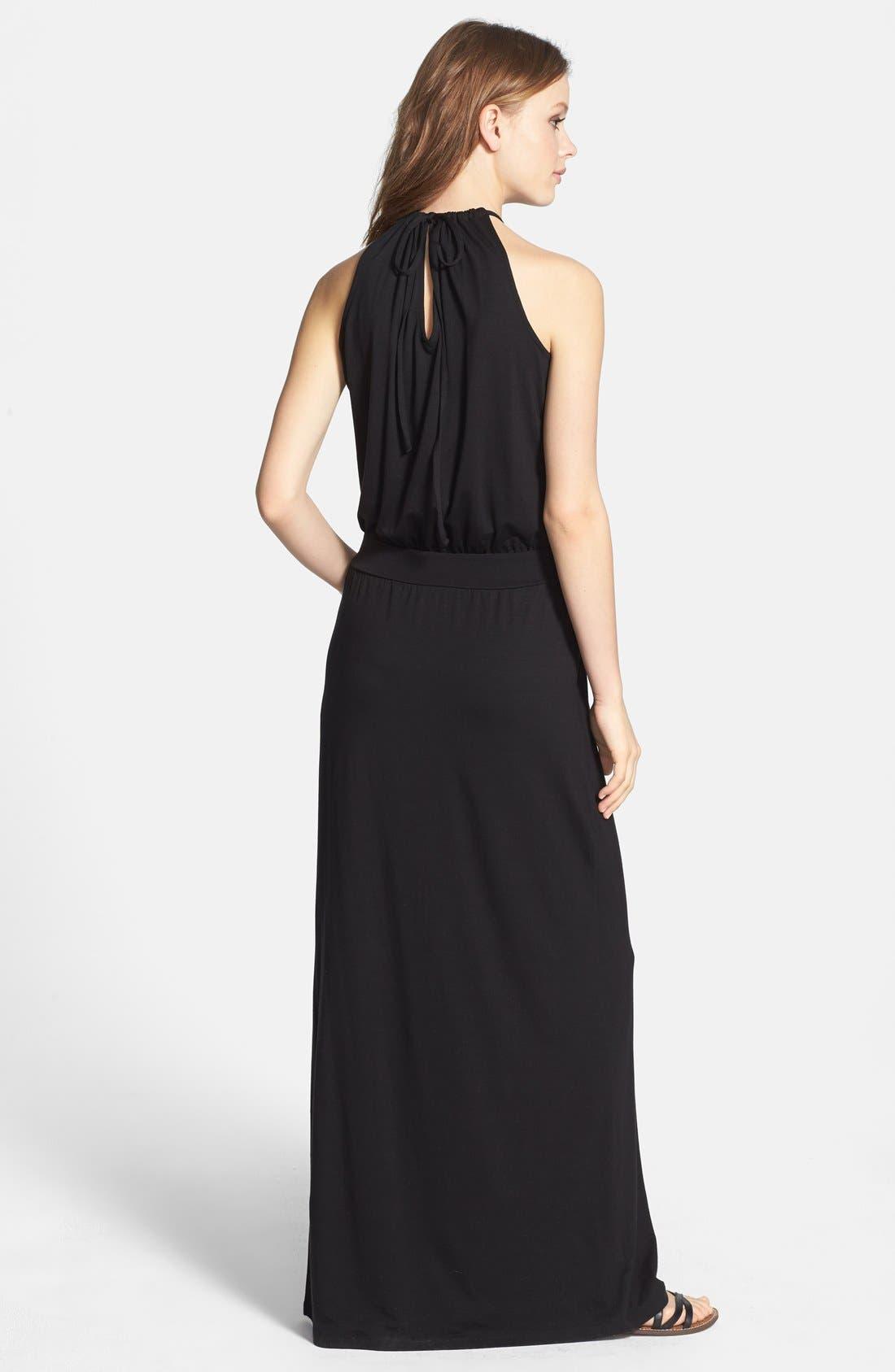Alternate Image 2  - Splendid Cutaway Tie Back Maxi Dress