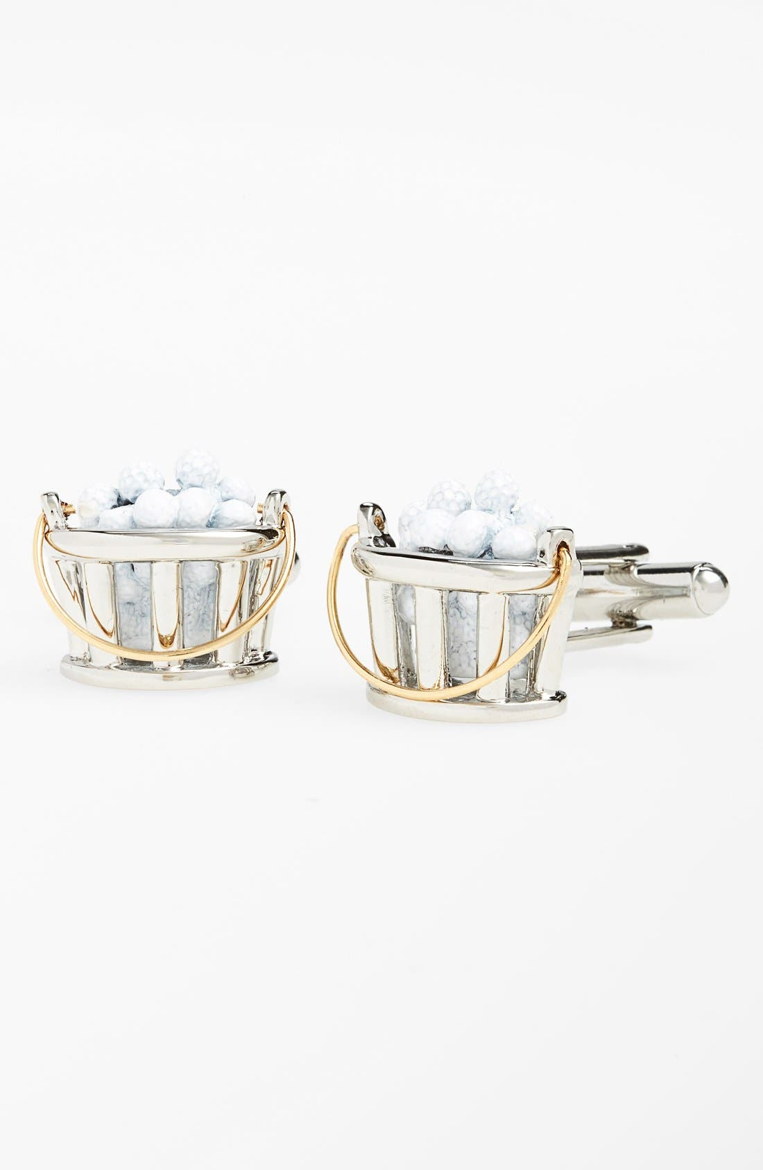 'Bucket of Balls' Cuff Links,                         Main,                         color, Silver